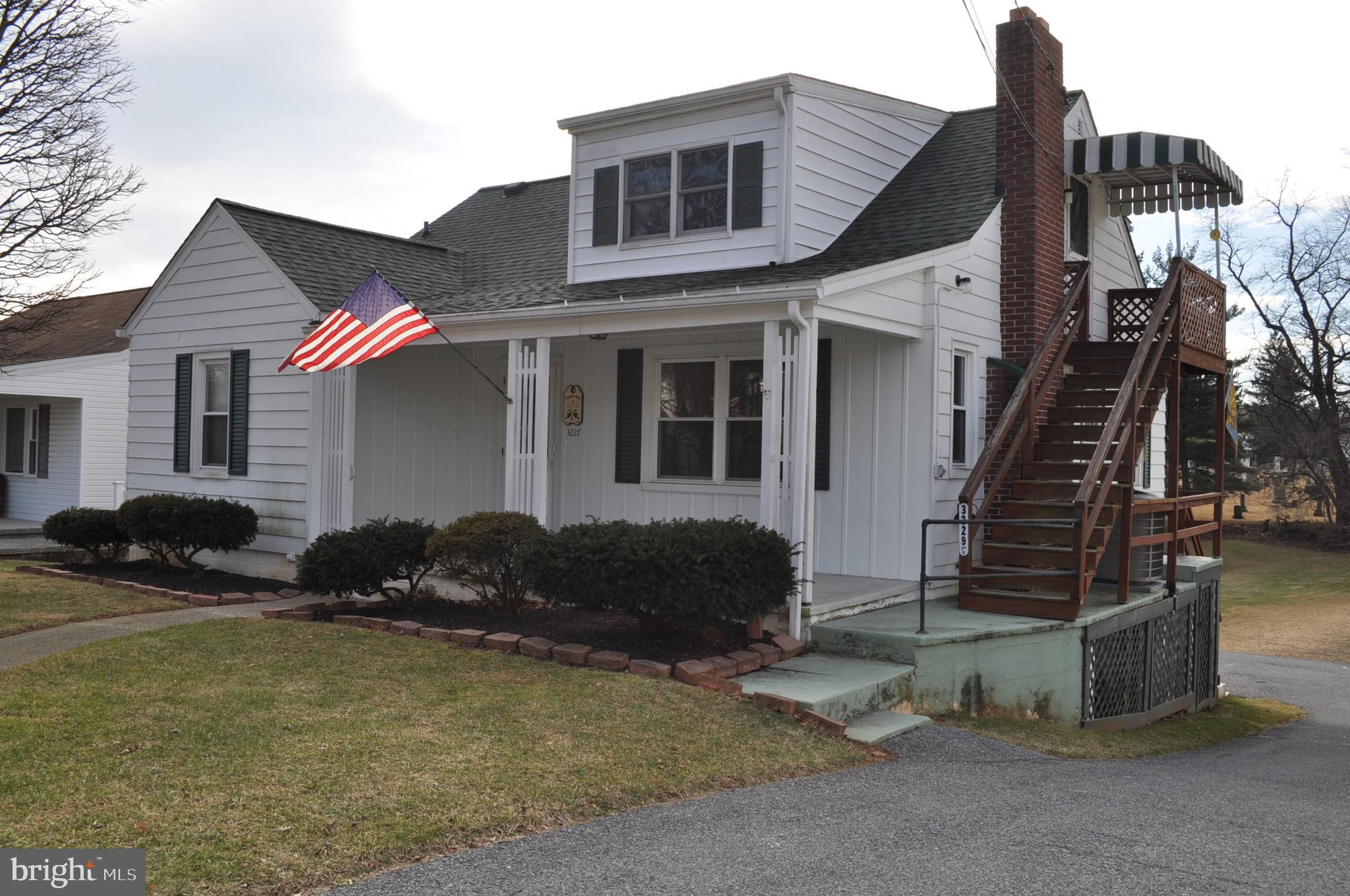 In town cape cod on a nice lot that has been used as 2 units. It has 2 bedrooms, 1 bath, living room