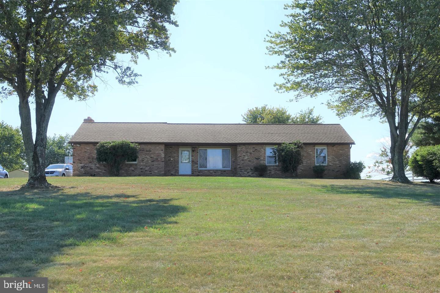 This beautiful Rancher in Mount Airy offers three large bedrooms,  two full baths, over an acres of