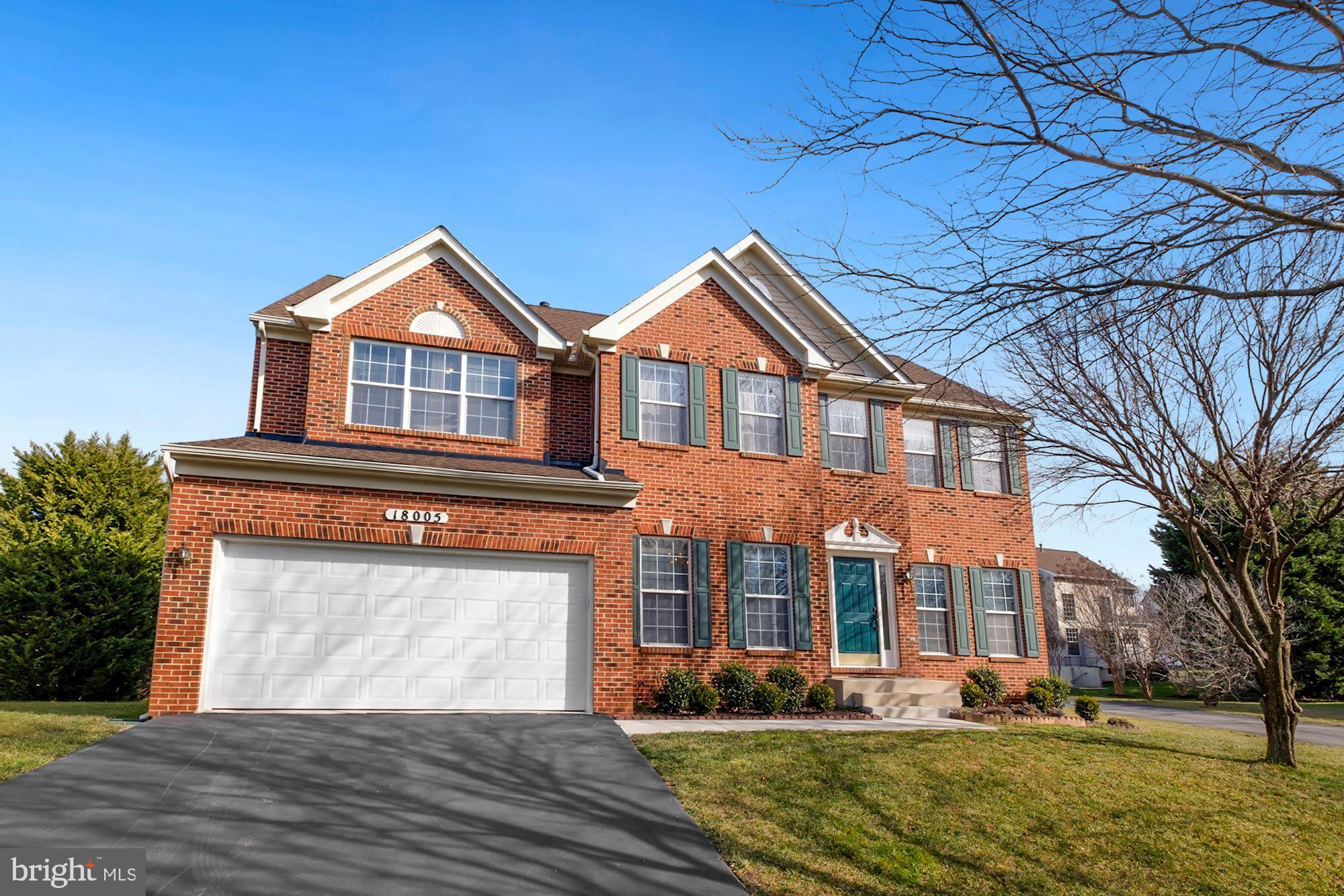 Gorgeous well maintained brick front home with 4 bedrooms and 3.5 bath. Hardwood floors on main leve