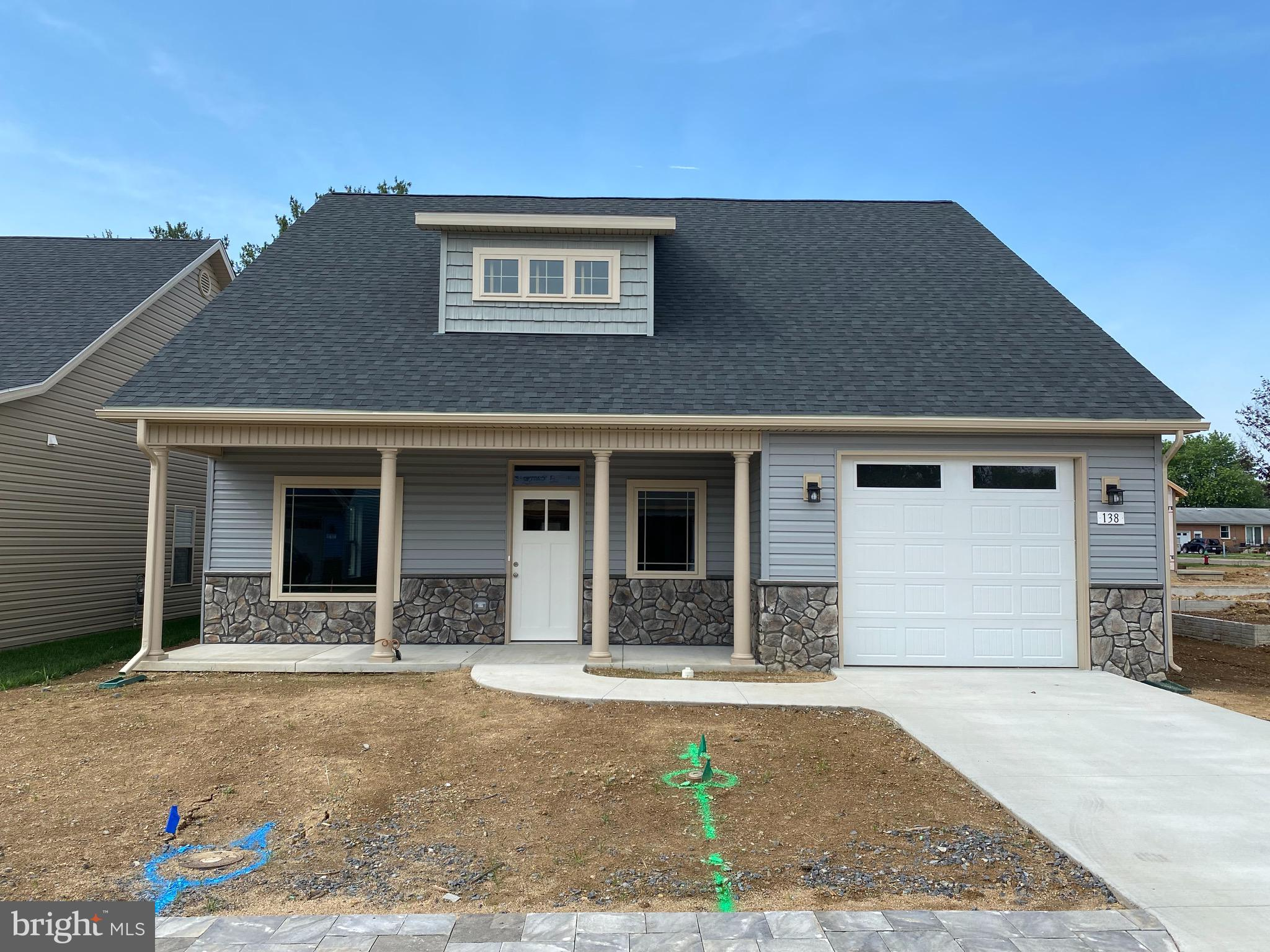 Brand New one level Cottage Style homes in Charming Cottage Glen an Age 55 and Better Community. Two