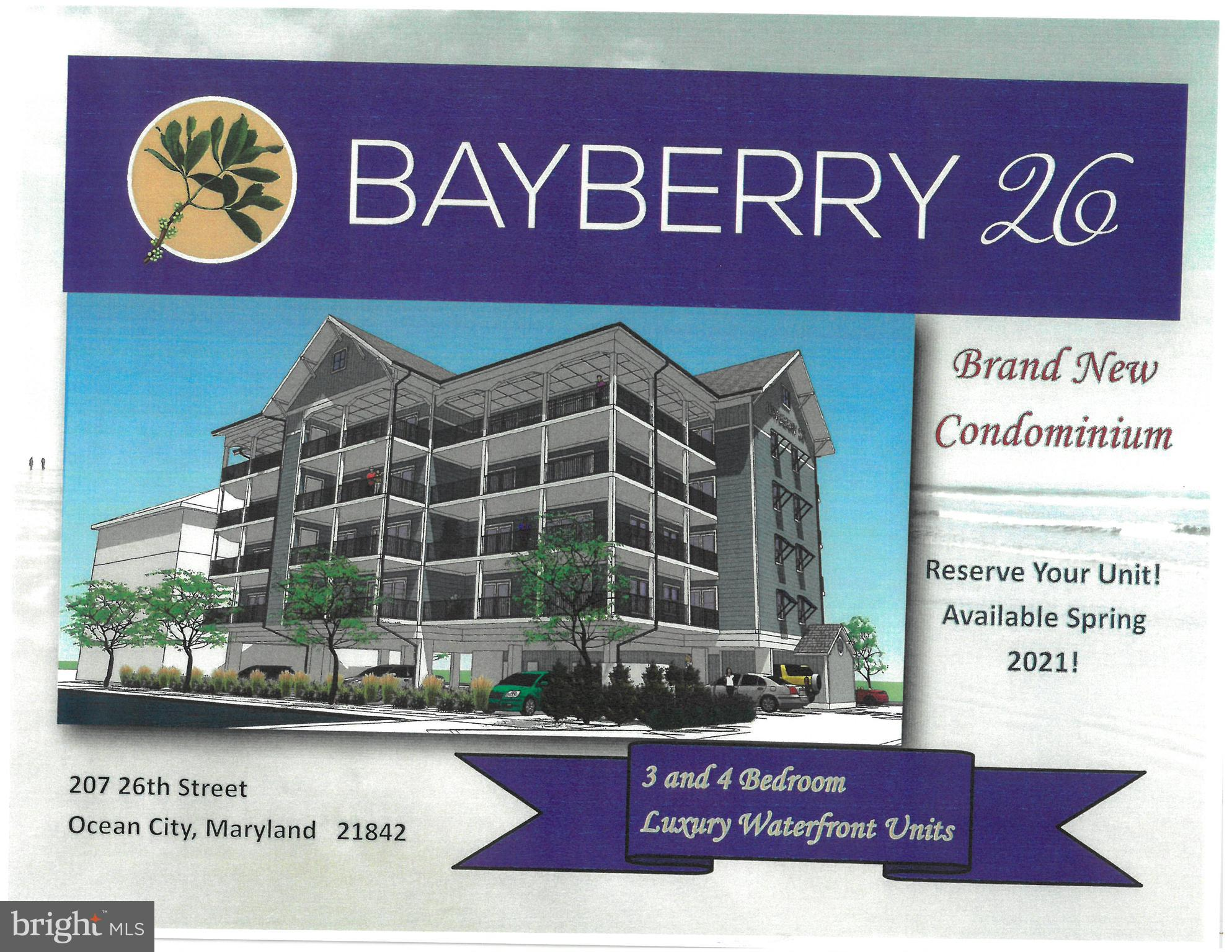 LUXURIOUS NEW WATERFRONT 3 AND 4 BEDROOM CONDOS AT 26TH ST MAY 2021 DELIVERY  All units are South fa