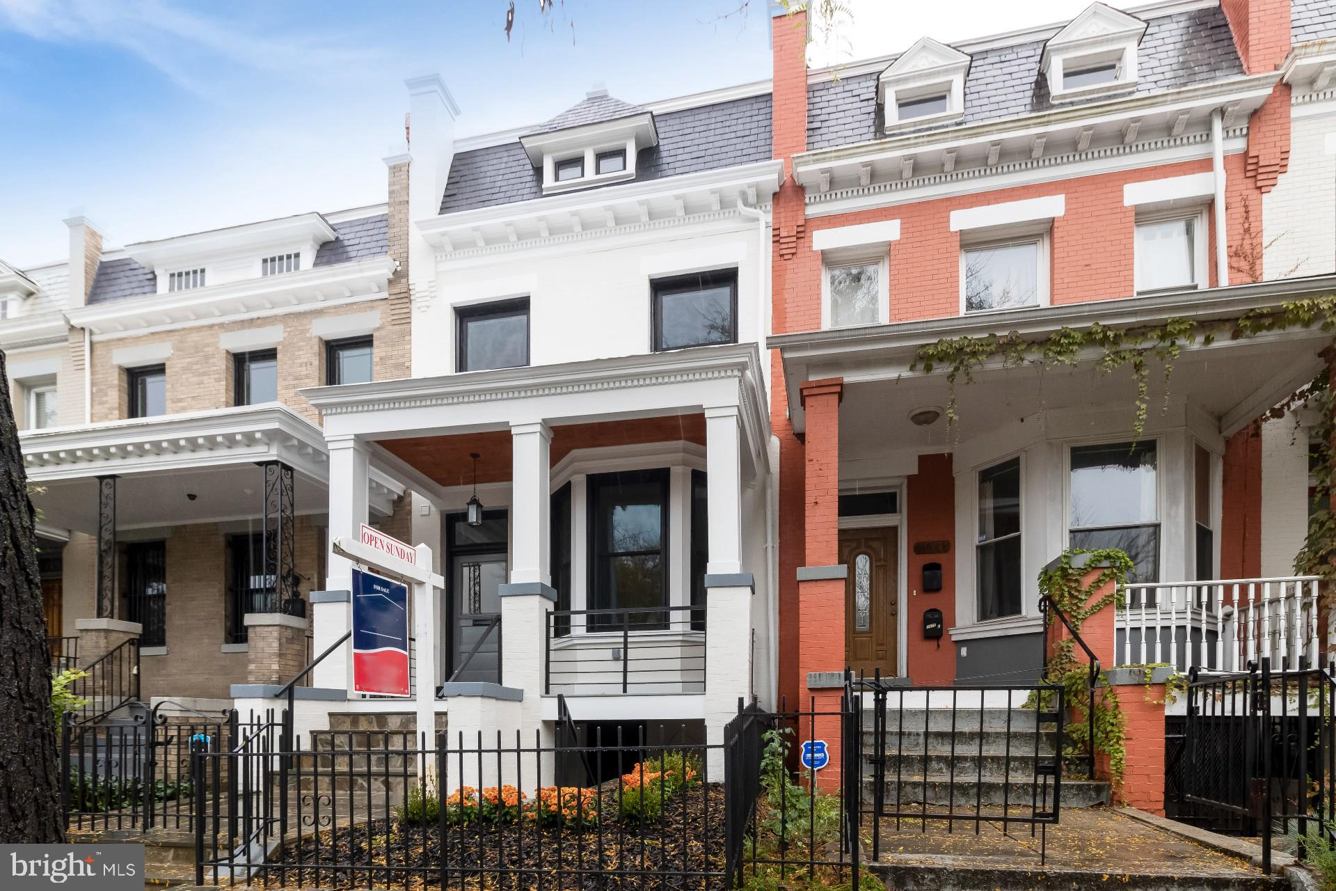 Newly renovated Columbia Heights 1910 rowhouse, designed by JKS Properties LLC to impress from top t
