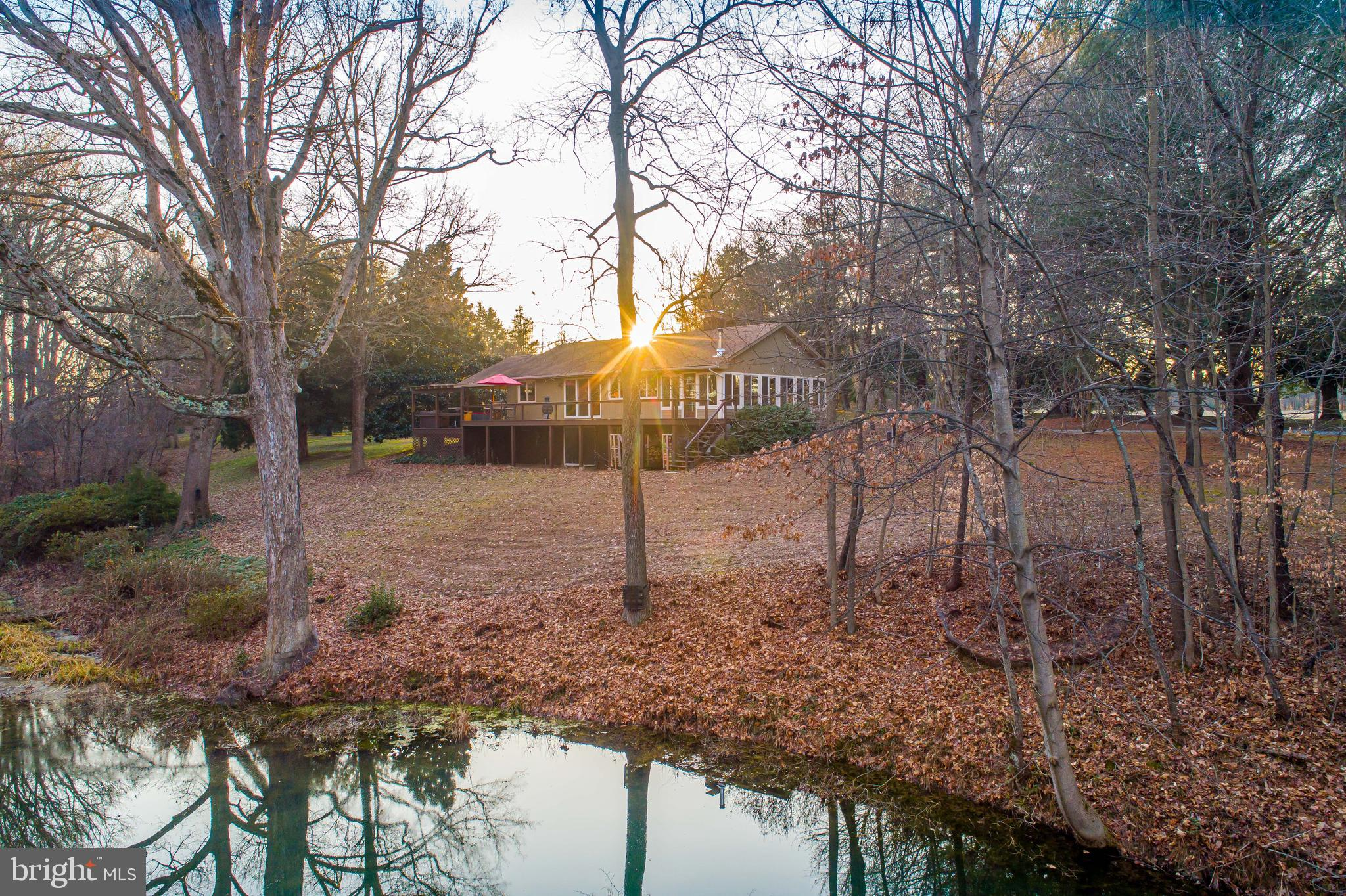 Peaceful, wooded retreat with a private pond situated on over 5.5 acres in Queen Anne's County!  Thi