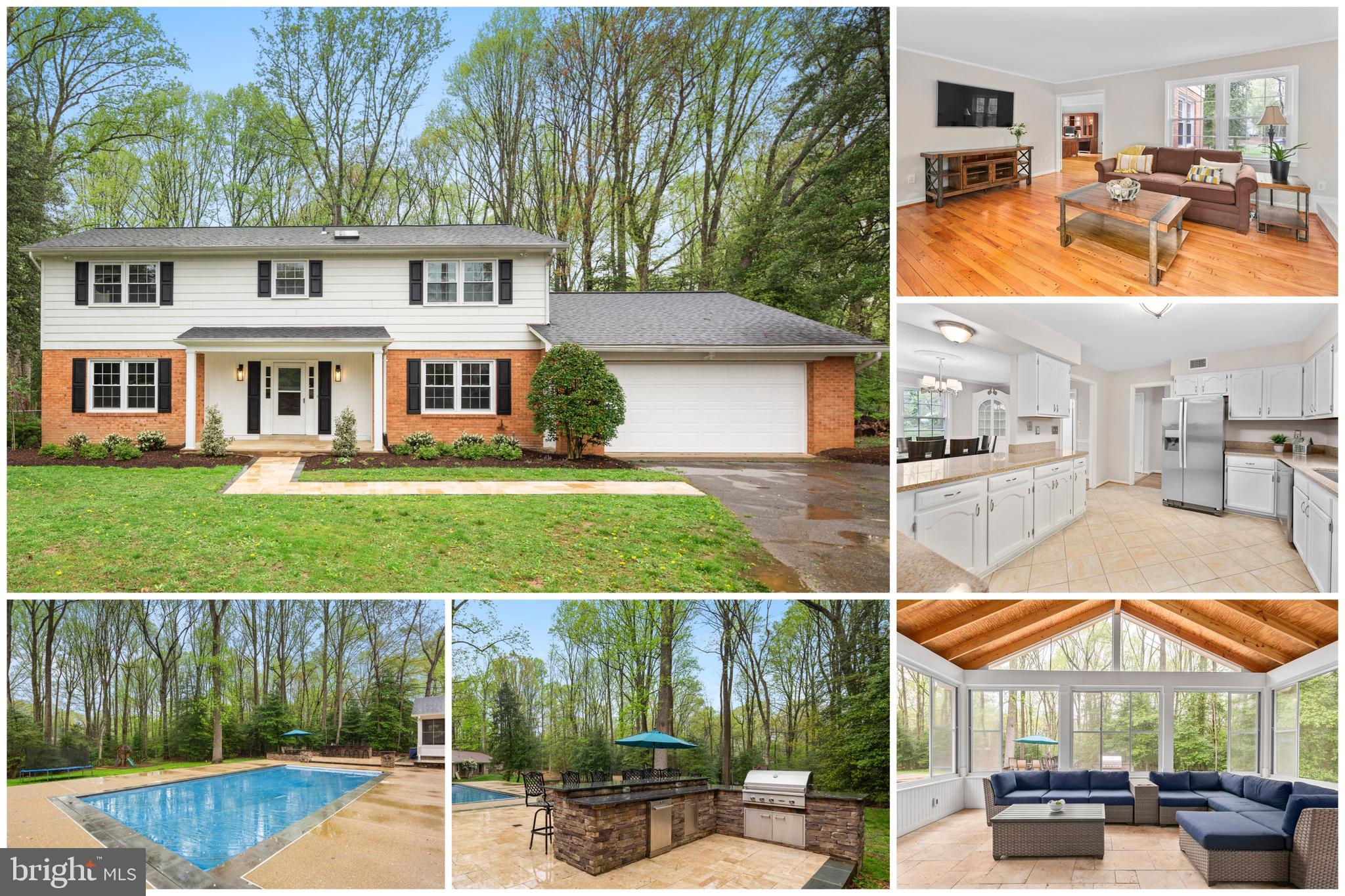 Don't miss out on this one! Vacation at home! This lovely updated gem is like a resort in itself with custom-built backyard oasis on a private acre lot just minutes to Reston Town Center & the Silver Line Metro. This is an entertainer's dream! You'll love the spectacular three-season room with vaulted ceilings & heated floors that leads out to the travertine patio with custom granite bar & built-in grilling station. Tons of fun with a heated salt-water gunite pool with custom sunshelf & custom lighting & automatic safety cover. The home is sunny & bright with generous sized rooms throughout, beautiful hardwood floors, crown molding, built-ins, fireplace & wood stove. Updated kitchen features granite counters, stainless steel appliances & breakfast bar. Fully finished basement has a wet bar, rec room, fireplace & guest room. Fully fenced backyard with plenty of room to play & garden. Updates galore include roof, sliding glass doors, water treatment system, water heater, French drain, newer septic system & more. Sought-after Oakton High School pyramid & centrally located with easy access to major commuter routes right around the corner from dining, grocery, shops & entertainment. Offer deadline has been set for 2pm on Monday 04-19-21.