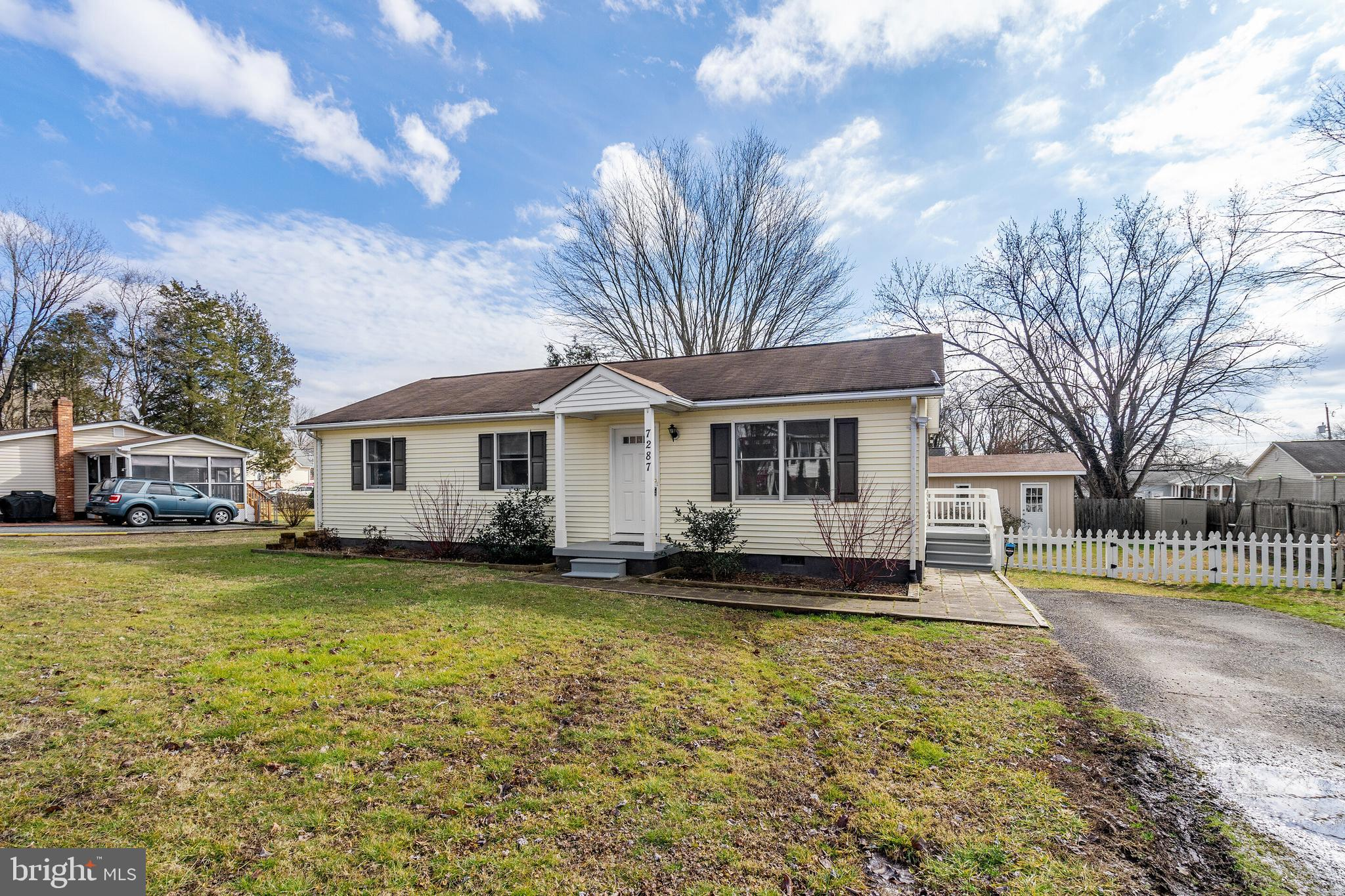 Updated with fresh paint and all new hypoallergenic carpet.  New refrigerator.  Large shed in backyard.  Everything is ready for you to just move right in.  Rear yard is fenced and has Trex deck.