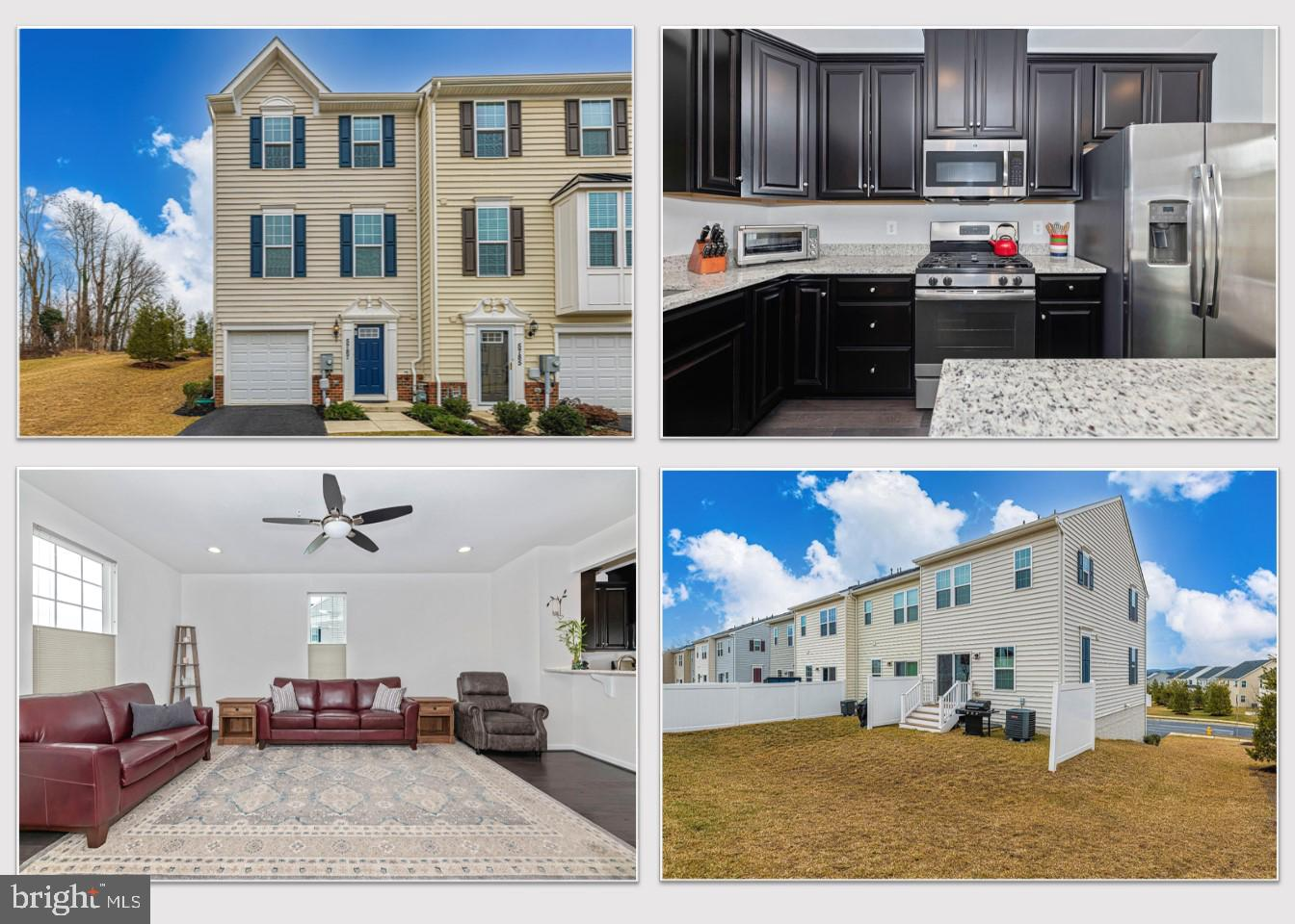 Welcome Home to 5787 Barts Way! This gorgeous 4-year young 3 bedroom 2 1/2 bathroom end-unit townhom