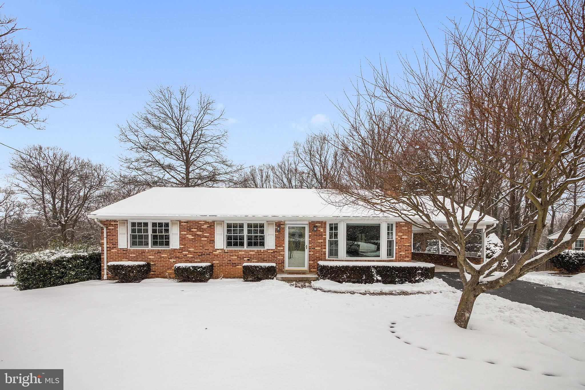 Solid all brick rancher on gorgeous ½ acre lot in sought after Damascus! Gleaming hardwood floors on