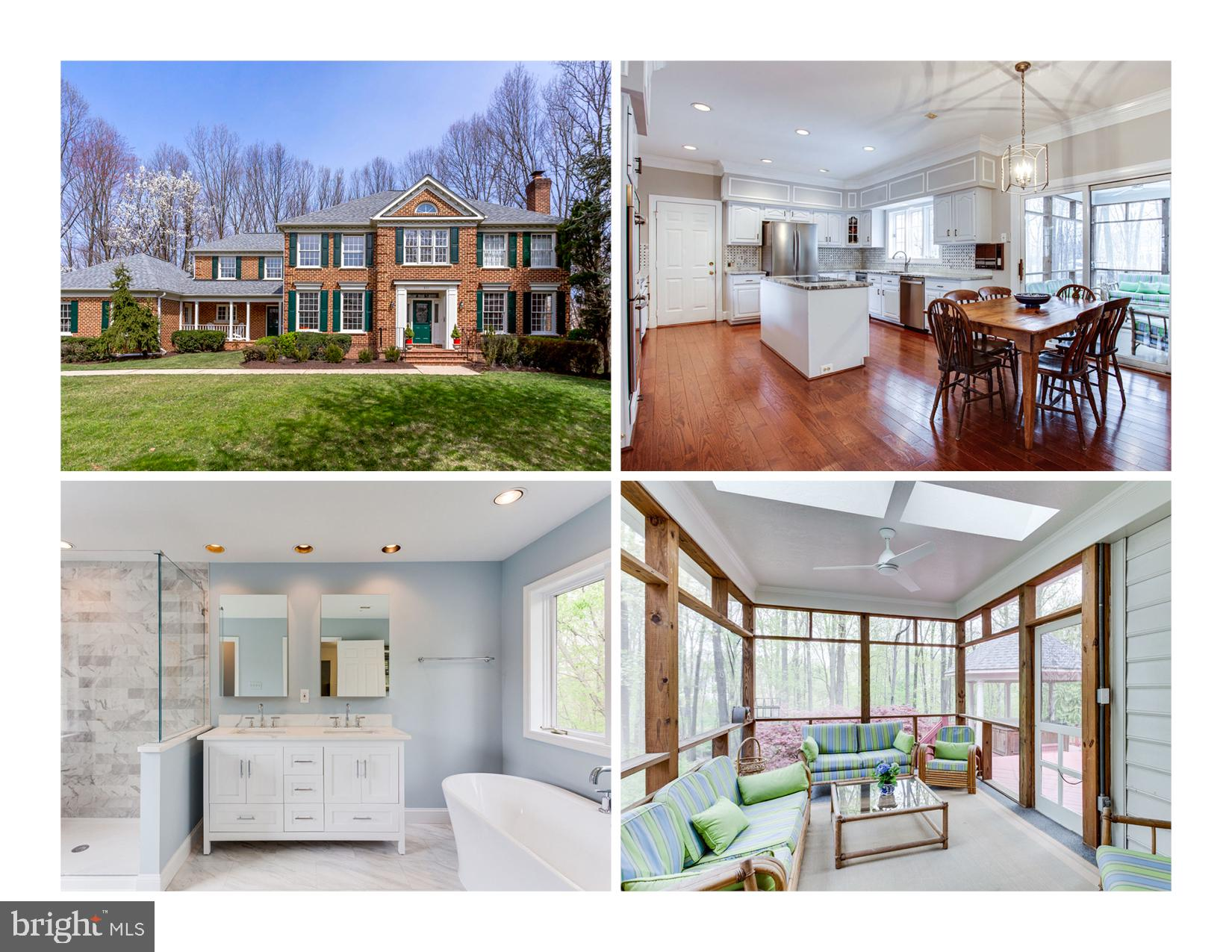 Lovely brick colonial with the perfect balance of classic charm and modern comfort in a private wood
