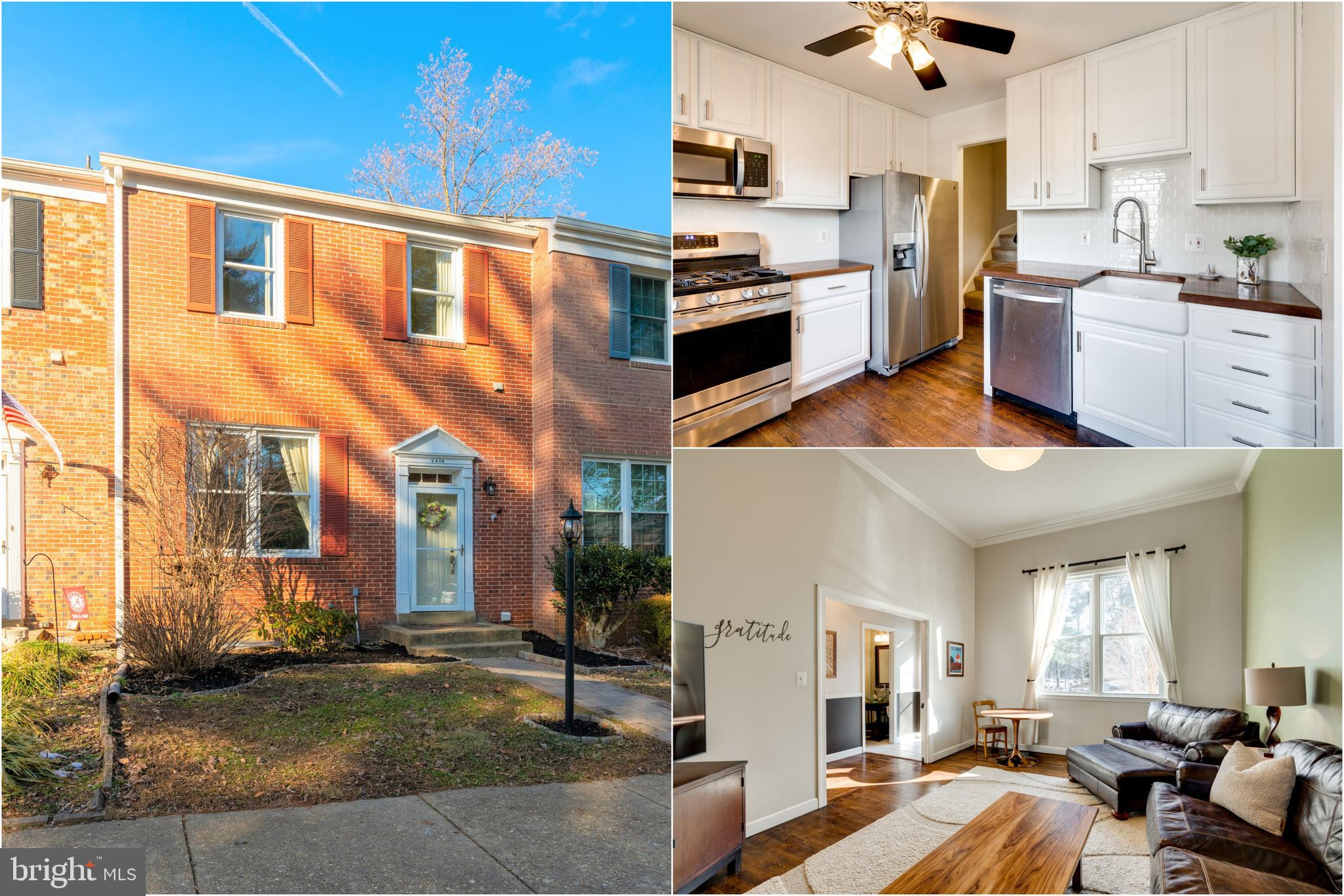 Beautifully Updated, Move-In Ready, Brick Town Home in Sought After Lake Braddock Community! From th