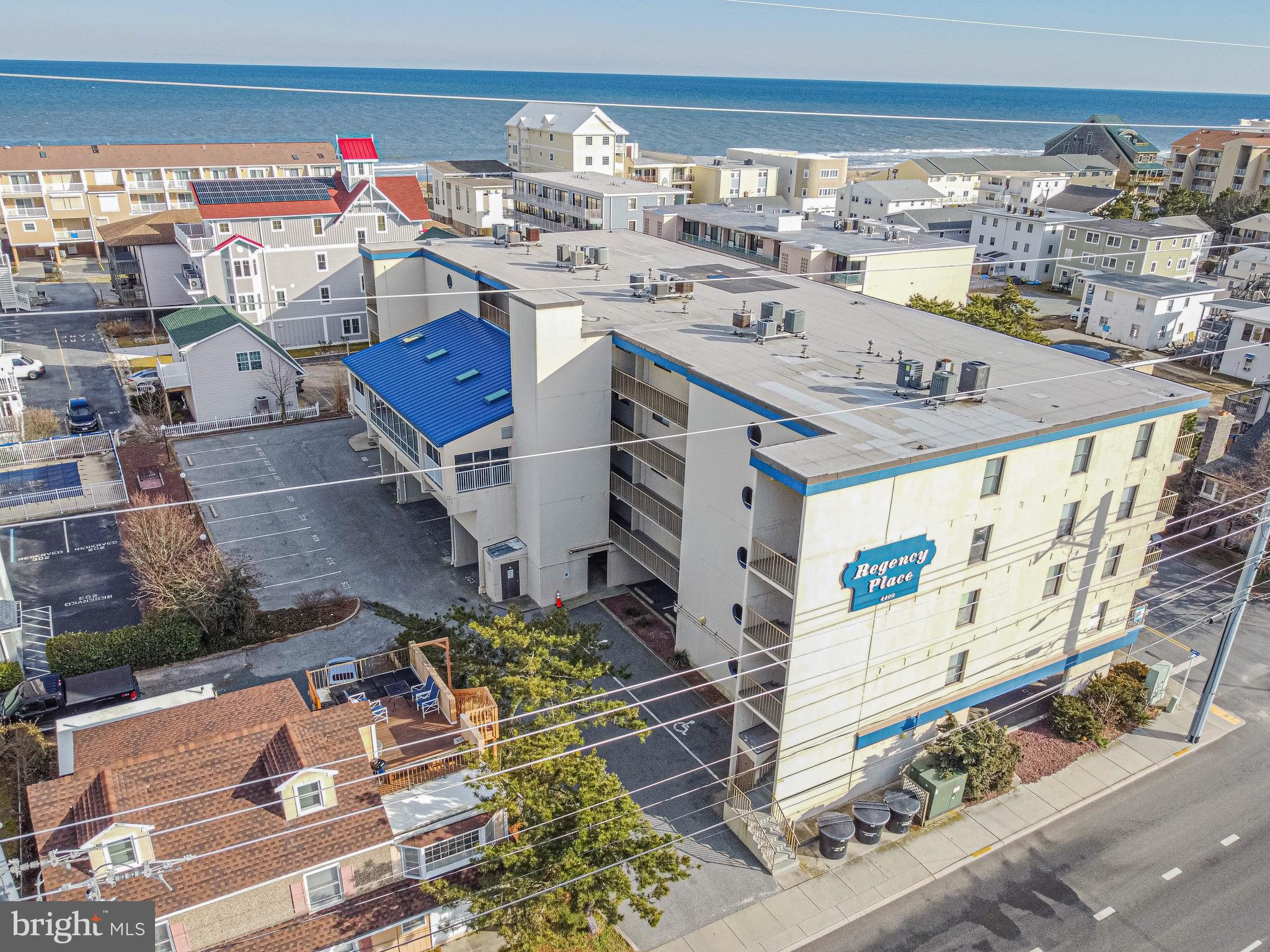 Mid-town Ocean Block, - incredible location.   The building offers great perks with an indoor pool t