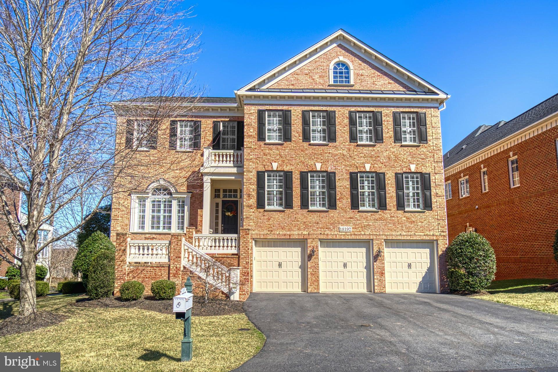 Stunning all brick estate home in the sought after gated community of River Creek on the Potomac. Th