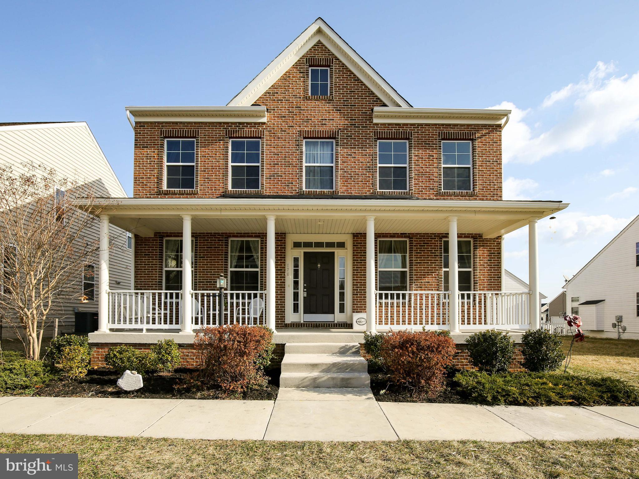 This lovely 4 bed, 3.5 bath home with welcoming front porch is all set for you to work from home fea