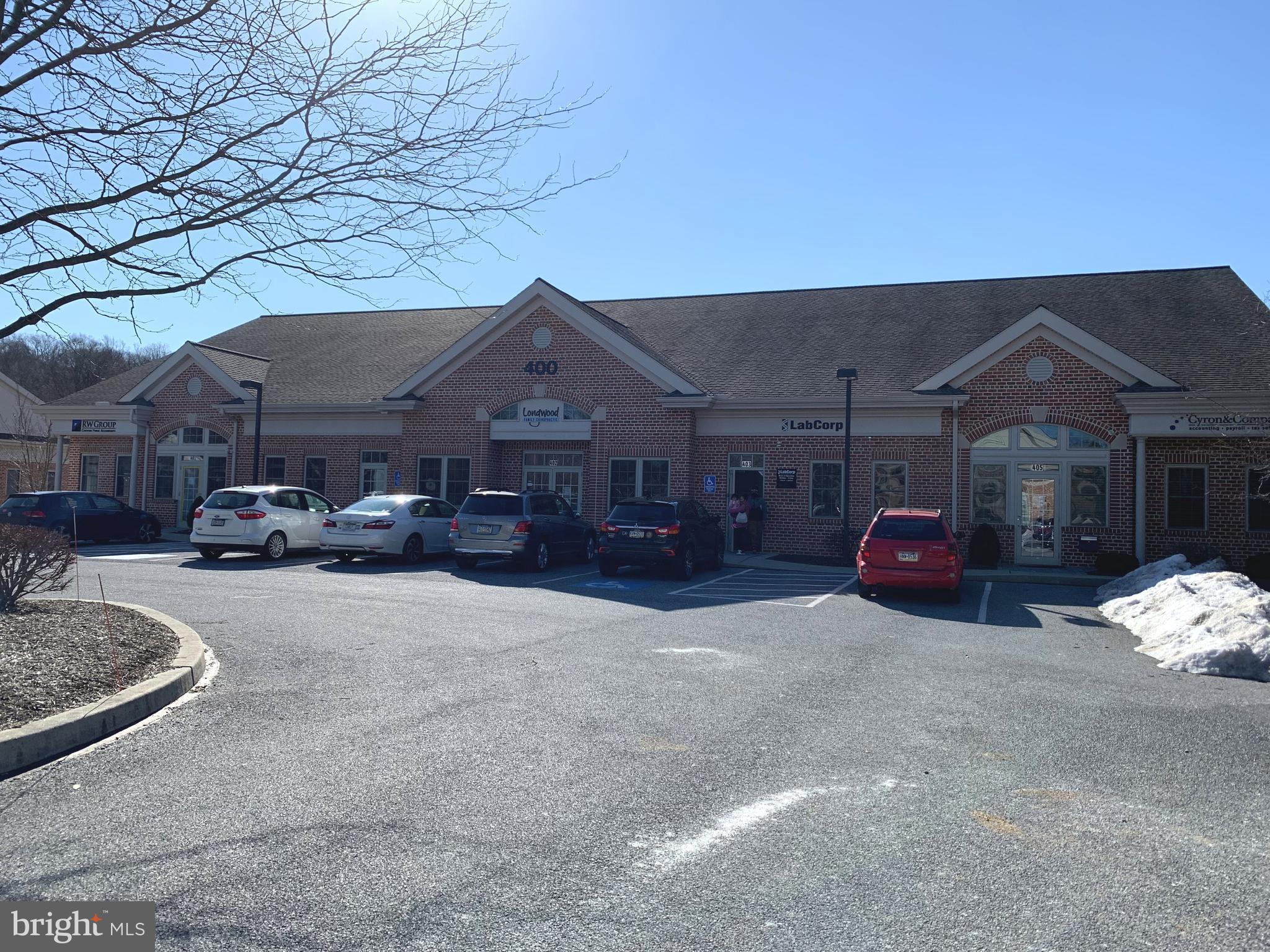 Newly available office suite in the Beiler-Campbell Business Center, seated along the US1 corridor in the Longwood area of Kennett Square and boasting traffic counts of 40k+  This 987 sf is ready for your fit-out options. Currently an open suite with one restroom and corner executive office. Bring your floor plan and design plans and join Tower Health, WSFS Bank, Truist Bank, Verizon Wireless, and many local small businesses in this thriving Business Center. 7/1000 parking ratio. Easy access from US-1 and Bayard Rd.
