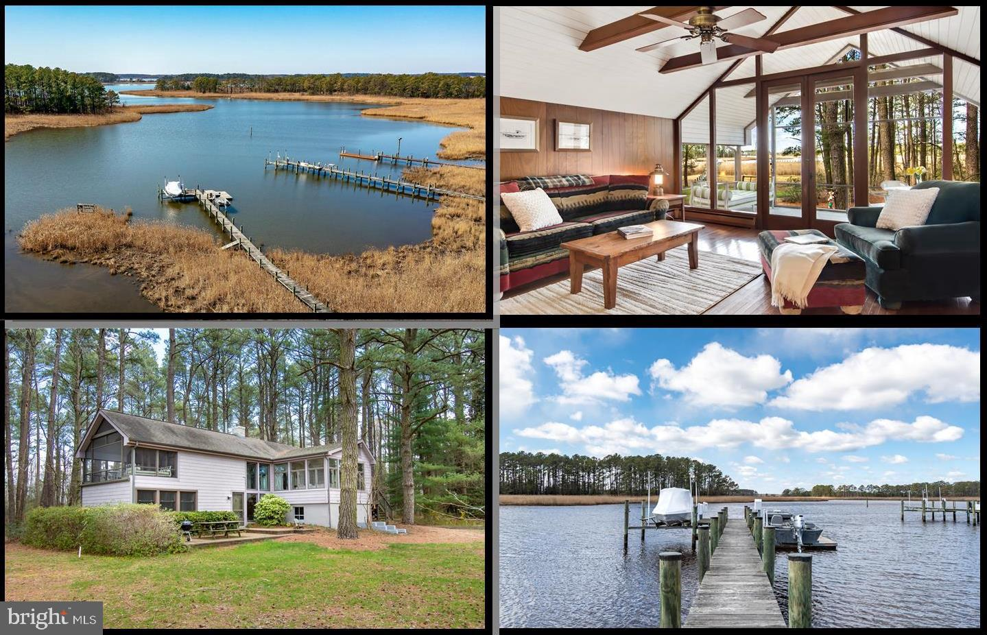Nature surrounds this 25+ acre waterfront haven with approximately 1700 feet of water frontage.  Loc
