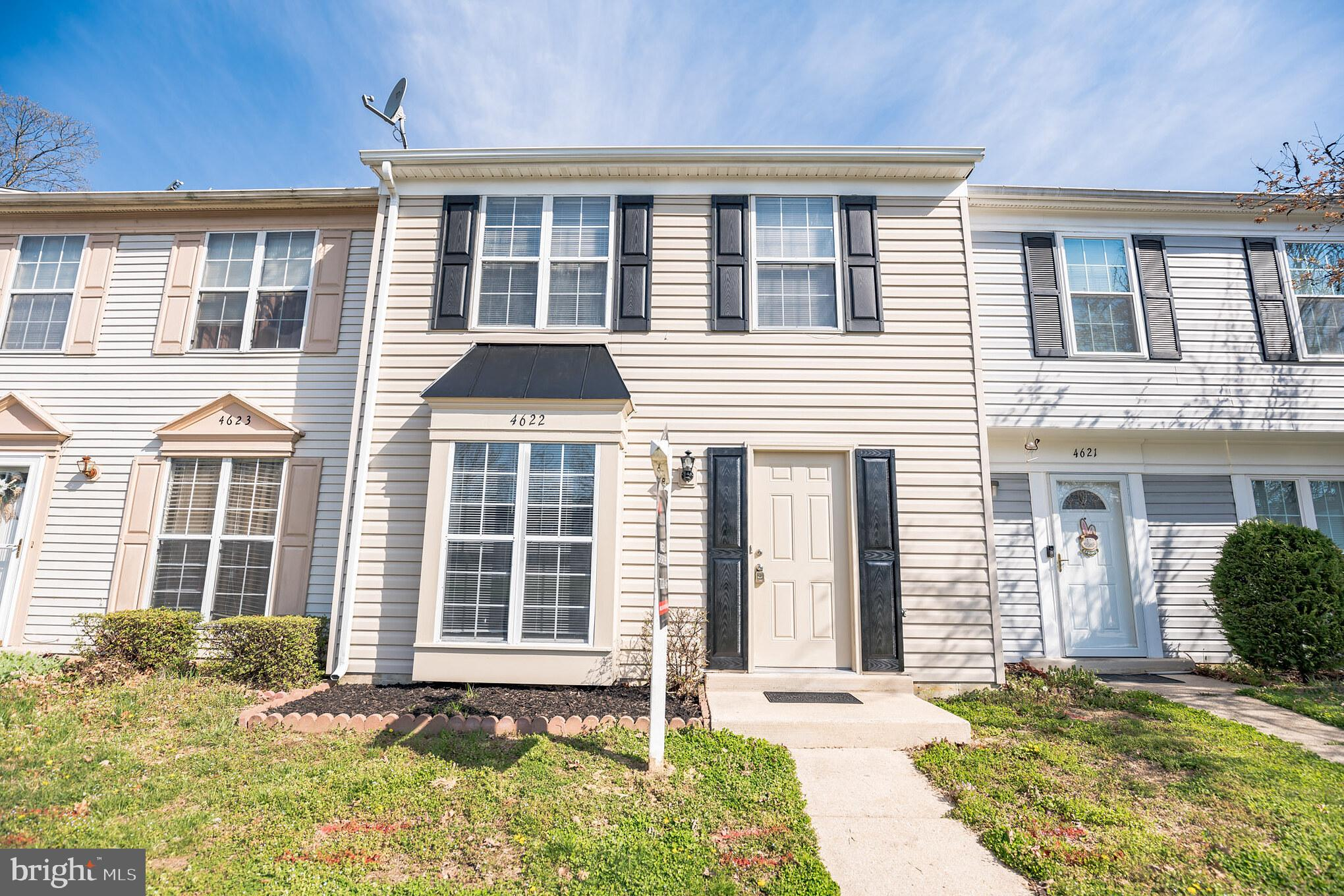 3 bedroom 1.5 bath townhome. The main floor is bright and airy with access to the partially fenced b