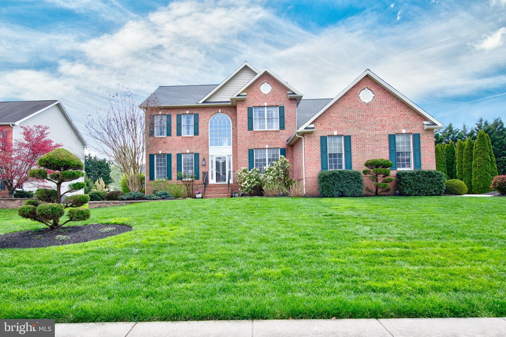 Immaculate 4 -5 bedroom Brick front home in the desirable FOX Chase community. Two story freshly pai