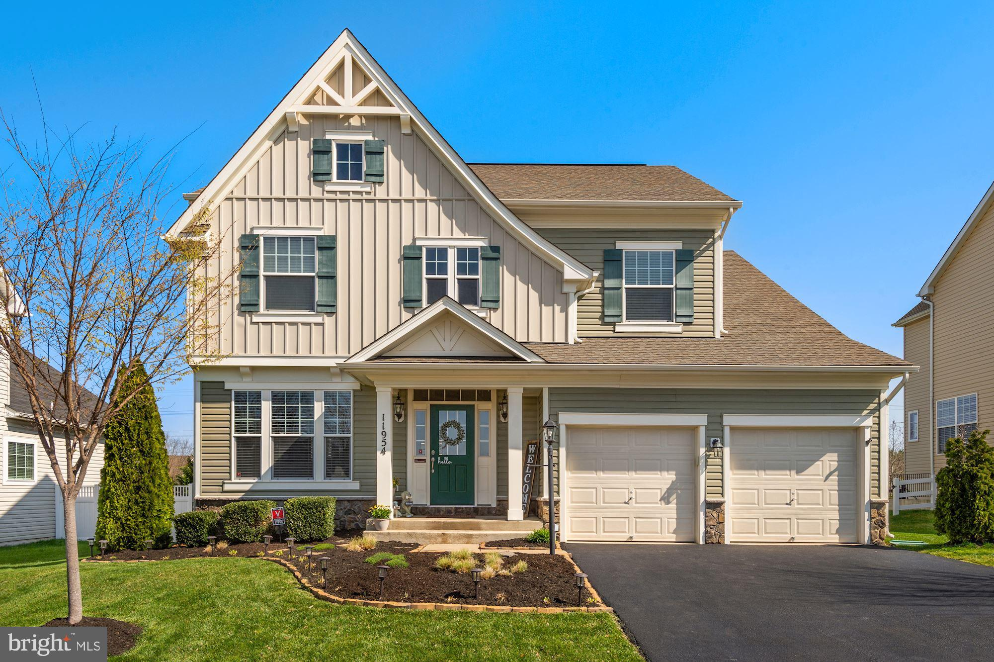"""Welcome to Avendale! Avendale is not your typical Northern VA community, it's a neighborhood filled with fun activities and located minutes from Shopping, Gyms, Restaurants and Entertainment, (think walkability score) Trails, Playgrounds, Dog Park, Basketball Court and PicNic Stations are all part of the Community! This  Waverly model by Brookfield Homes was designed with a nod to the Craftsman style! The Waverly features a sophisticated Floorplan that has room for everyone! The selections in this home are OFF THE CHARTS! Gorgeous wood flooring throughout the main level and a Kitchen that is Simply Impressive! The Family Room is generous in size with a 2 foot extension and adorned with a stunning Stone Gas Fireplace. There is also a Study on the Main Level that offers a great Office space or Home Schooling Center. Upstairs are FOUR bedrooms including a Primary Bedroom and Bath that are large and luxurious! The Loft area is unique and could serve as a Study space, Second Office or additional Family Room, the options are limitless! Downstairs is a HUGE finished Rec Room and Storage area, plenty of space for overflow entertaining. Speaking of entertaining, the backyard is an entertainers dream with privacy and plenty of space for a Bar B Que or beverages by the Fire Pit! Award winning schools and EASY access to Commuter Routes and the VRE complete the package. This home is truly """"move in"""" ready!"""