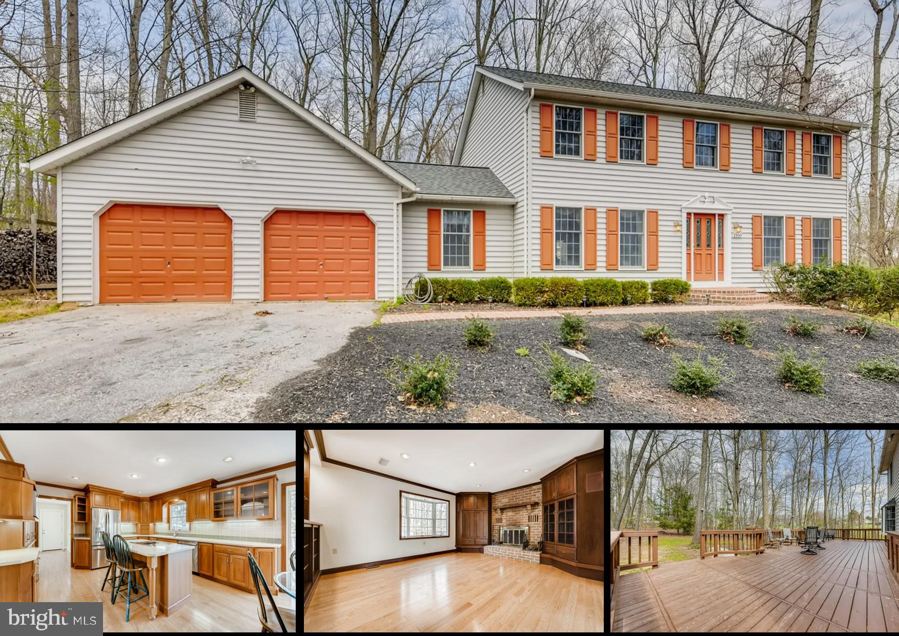 Rarely available 4 bedroom 4 bathroom Colonial style home with a 2 car garage, on 3+ acres of wooded