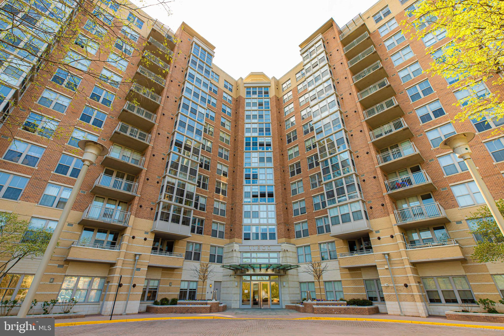The Carlton House, a high-rise condominium located in Reston Town Center at the intersection of Suns