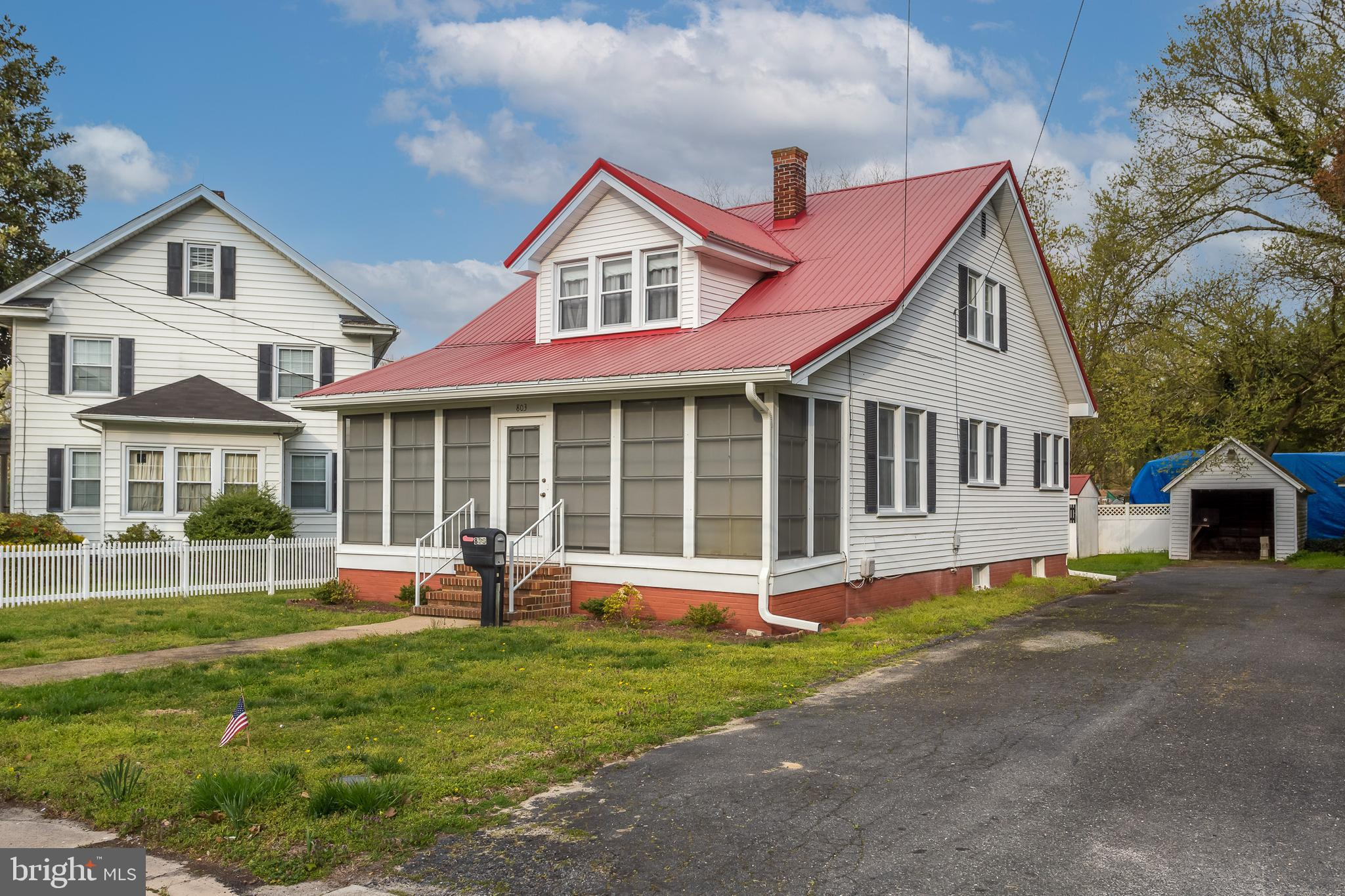 Well maintained home with charm and character in town of Laurel. Lower level consists of living area