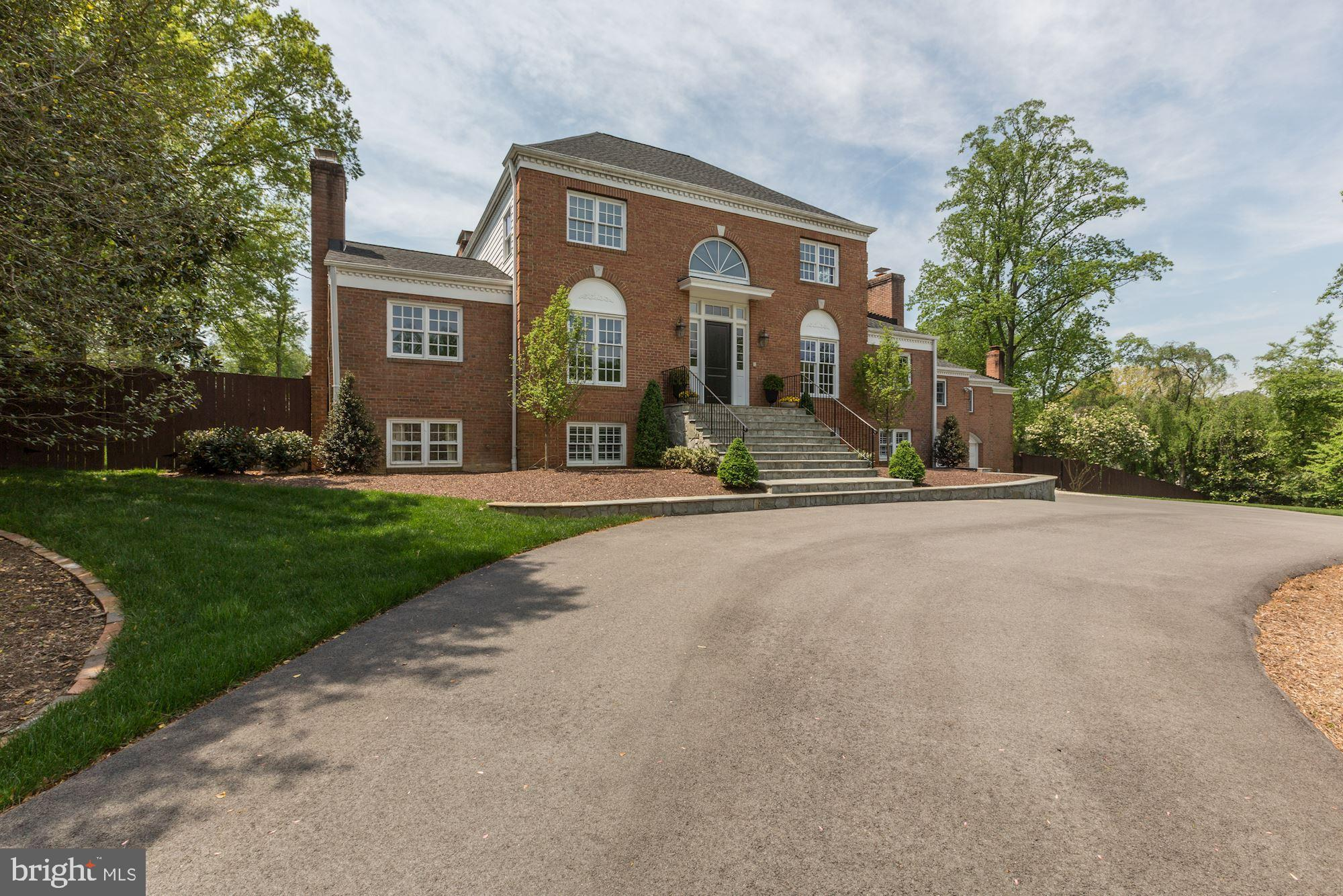 Exquisitely renovated brick colonial in one of the most desirable locations in McLean, just one stop