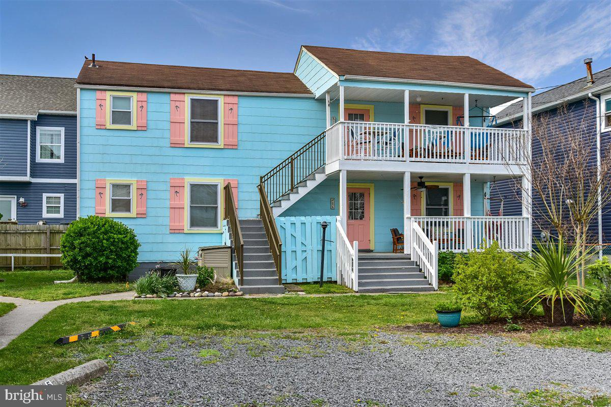 Investor Alert!  Free-standing building with two apartments (Two Tax ID'S MDWO10207320,MDWO10207312) one unit upstairs and one unit downstairs. Quintessential beach cottage feel with modern upgrades. Old Ocean City charm in an unbeatable location close to beach, boardwalk and everything downtown has to offer. Each unit consists of two bedrooms and one full bath with spacious front deck. Live in one unit and rent out the second or rent both units to increase income potential.  On site laundry facility for both units to share. Each apartment comes with one off street parking spot. Both units come fully furnished.  Short distance to Boardwalk and Atlantic Ocean!