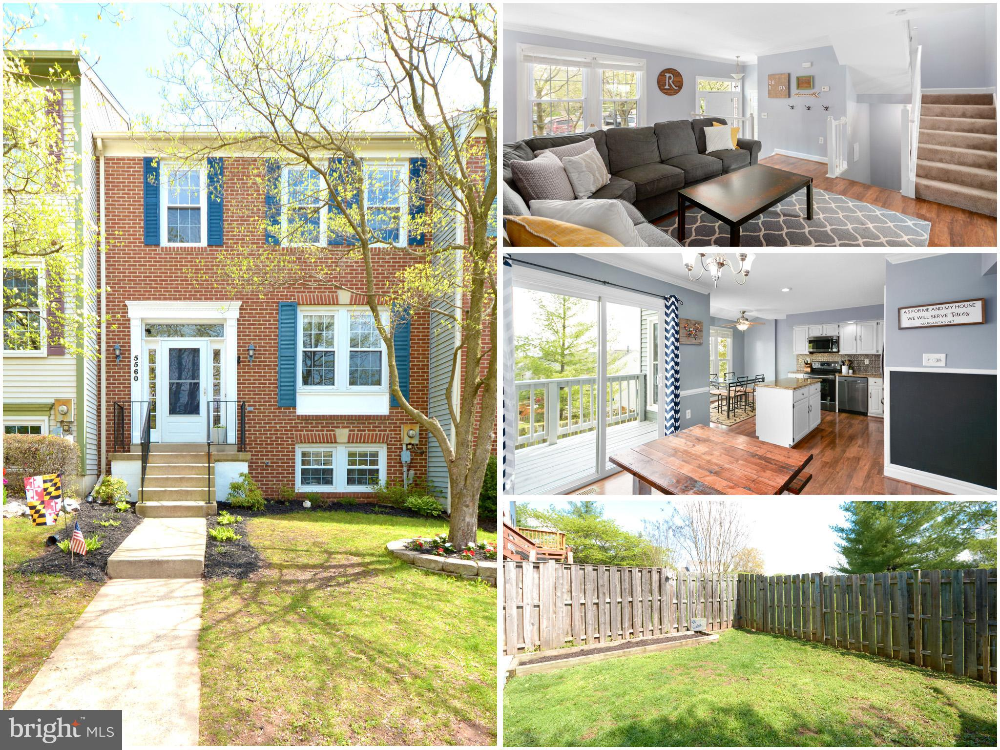 Brick front, move in ready, 3 spacious finished levels featuring 4 bedrooms and 3.5 baths.  Fresh pa