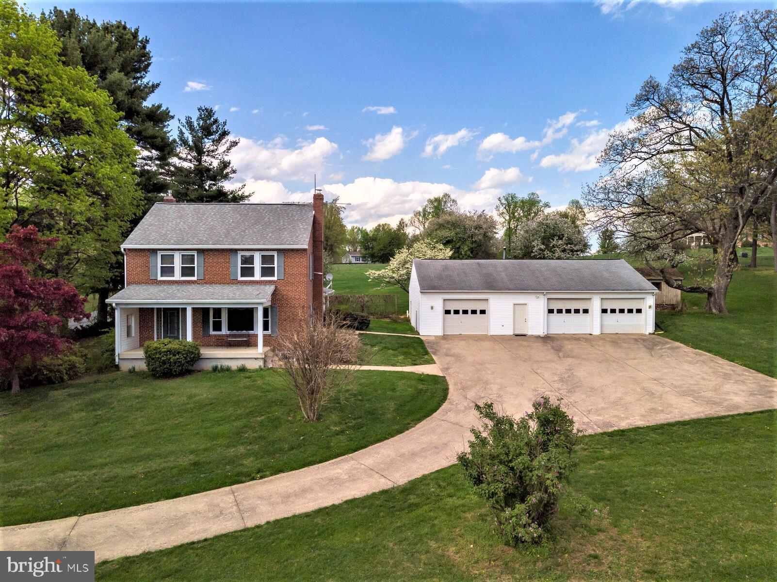 Here is your chance to own this 5 Bedroom, 2.5 Bathroom brick Colonial situated on 1.5 scenic acres.