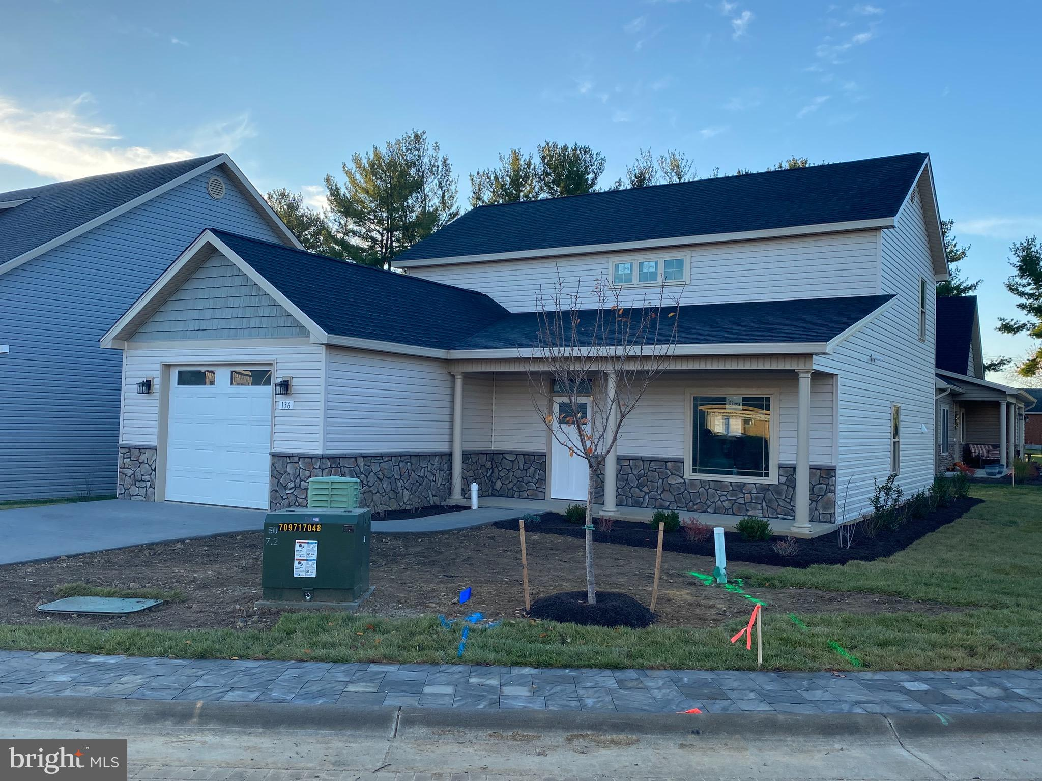Brand New two story Cottage Style homes in Charming Cottage Glen an Age 55 and Better Community. Thr