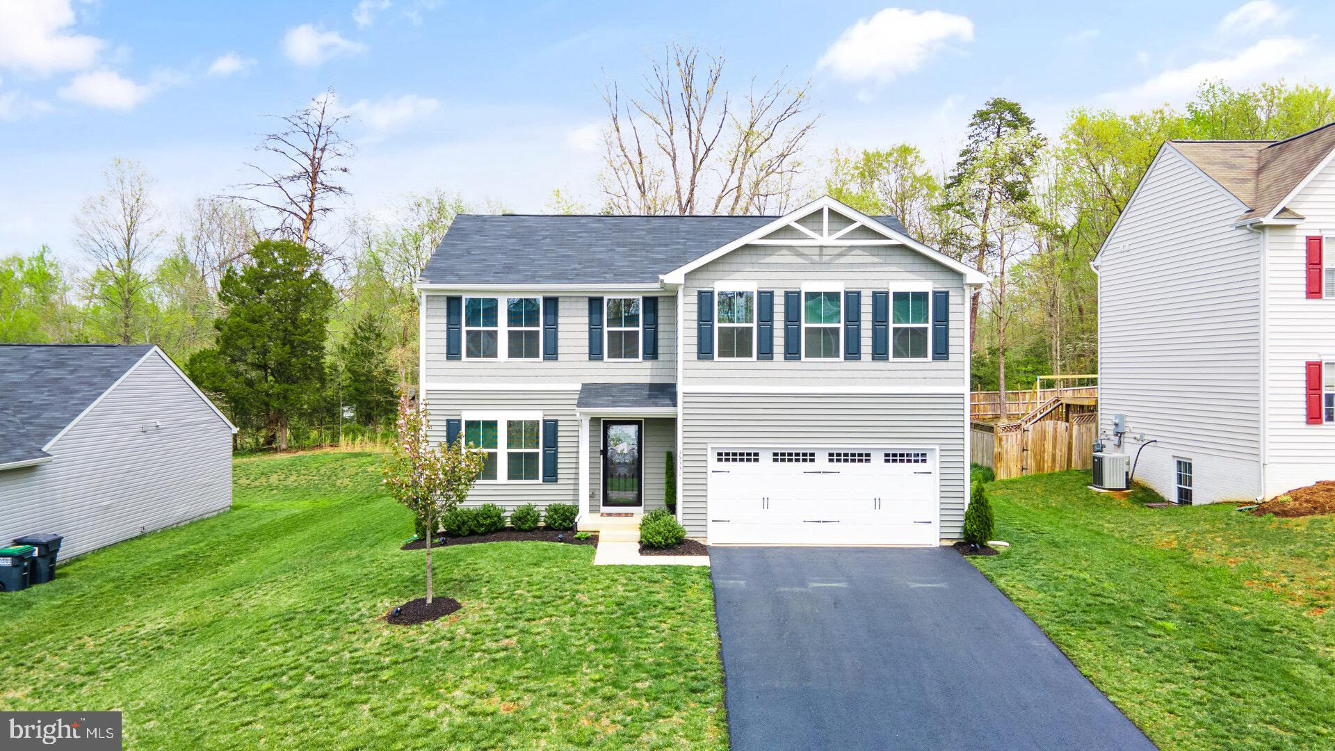Awesome location in Locust Grove, literally minutes from Shopping. Locust Grove is midway between Fredericksburg and Culpeper! Super easy to go either way for weekend fun in the area!   This home was built in 2018 and has been lovingly maintained by the original owners. This home truly looks like new! There is a fabulous main level that  offers flexibility galore! The Great room can be a Living Room, Family room, Office, the options are unlimited! There is a large Dining space for your Farm Table and the Kitchen is perfect for preparing Gourmet meals to be enjoyed out on the SCREENED IN porch! Upstairs are FIVE bedrooms all set and ready for family and friends. There are 2 Fulls Baths upstairs as well. The basement is 900 sq ft, ready for your customization! There is an egress window so you could add another legal bedroom downstairs!There is also a plumbing rough in ready for a bath to be completed! Amazing amenity rich neighborhood with a POOL, PLAYGROUND and TRAILS!  Award winning schools and close proximity to everything makes this home the PERFECT place to live!