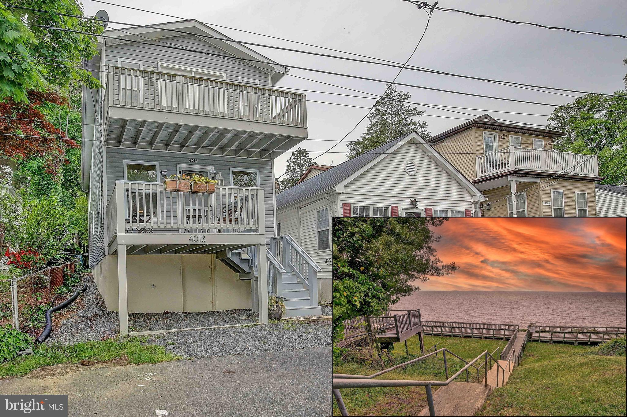Beautiful home tucked away on a private block in the town of Chesapeake Beach. Just one block from t