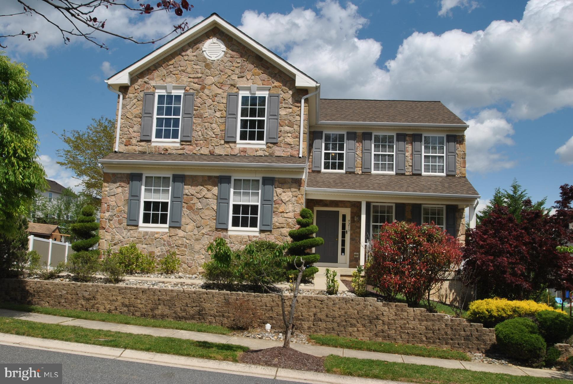 STUNNING STONE FRONT COLONIAL IN MOORES ORCHARD COMMUNITY! FEATURES: 5 BEDROOMS 3.5 BATHS, OPEN TWO