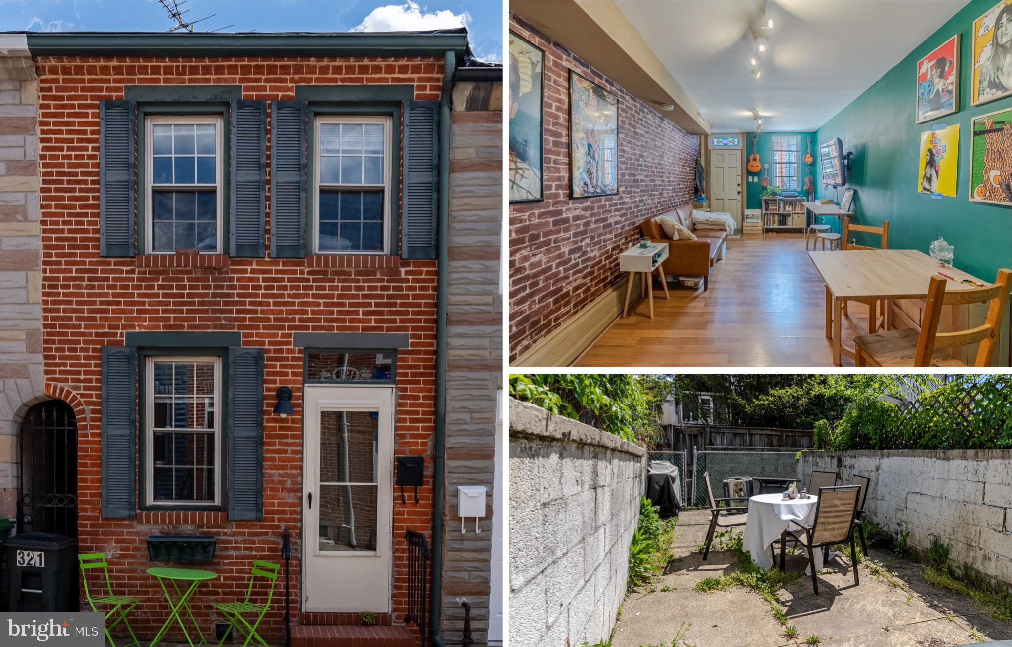 Fantastic 2BR /2FB brick-front home on a quiet street in perfect Upper Fells Point location! Priced