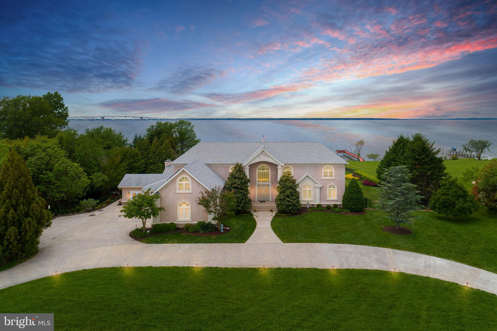 Chesapeake Bay waterfront estate on Kent Island minutes to the Bay Bridge with over 8000 square feet