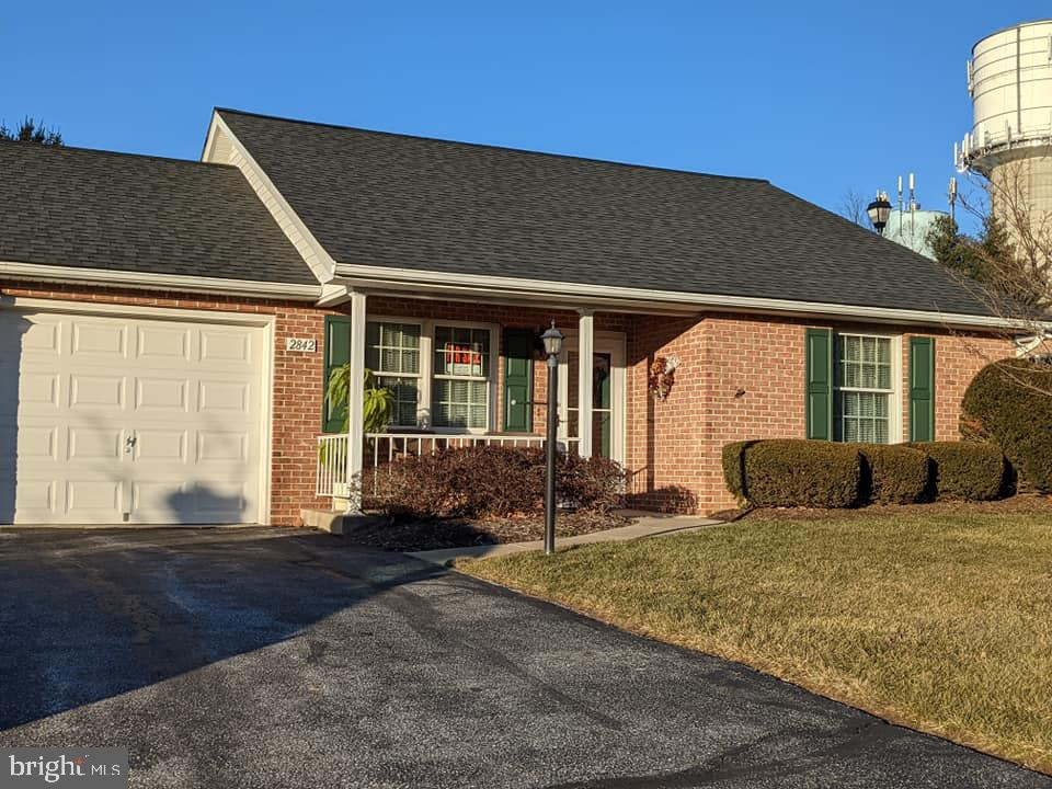 Villa style condo ready for immediate occupancy  in a 55 or better in Springdale Village community.