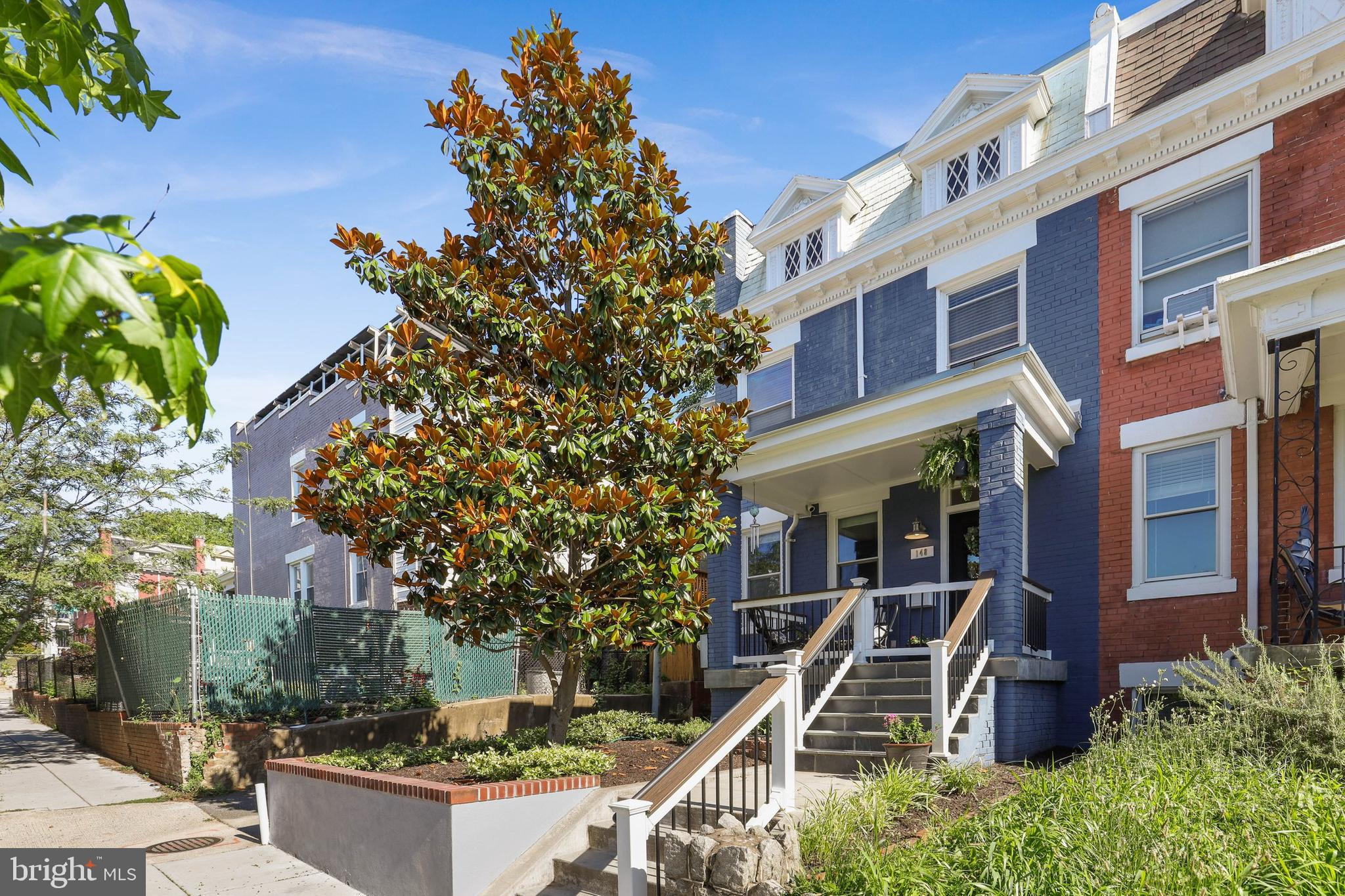 Classic 1913 end unit rowhome in Eckington on a quiet one way street. Property has been restored and