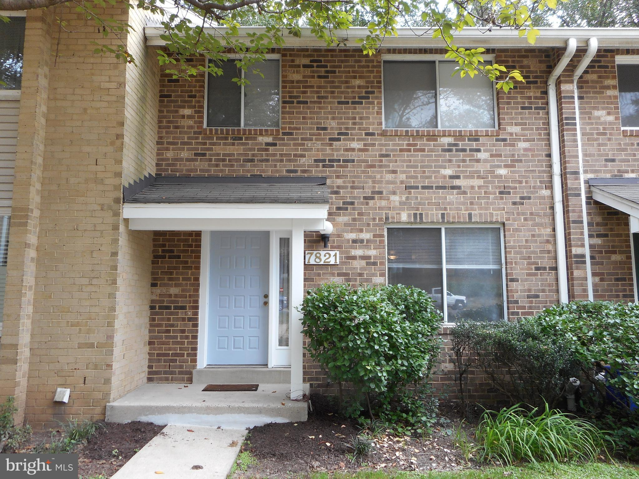 Lovely three-level  townhome; walk-out  back to  private wood area; house is selling AS-IS condition; hot  water heater / HVAC/ carpet (2019); two assigned parking spaces; Whitman school district;  Near shopping, restaurant and parks; Clara Barton community center; Easy commute to DC & VA.