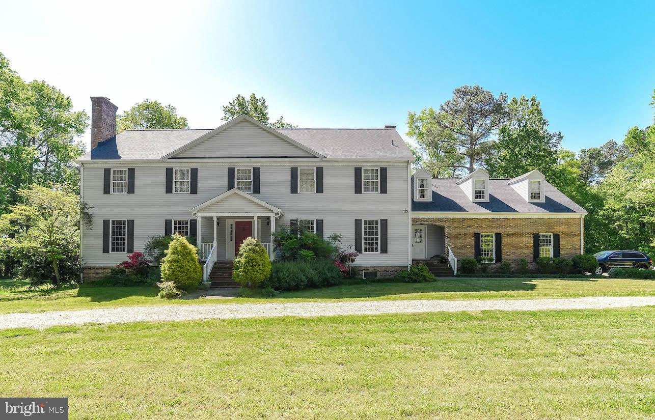 Waterfront on St. Jerome's Creek.  5 bedrooms , 3 full and 2 half baths.  Another bedroom is on the