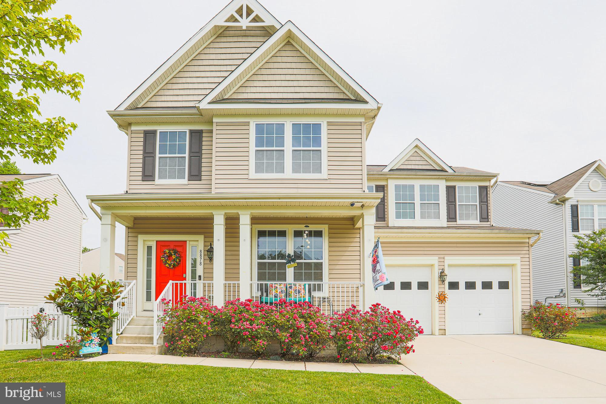 ***Offer deadline June 7 by 5pm***  Rarely available in Perry Meadows!  Over 3,000 sq.ft. and in awesome condition.  This home  has it all including 5 bedrooms, 4 1/2 baths and a 2 car garage.   Stunning hardwoods on main level, upgraded kitchen with new appliances, a sunroom,  mudroom with laundry,  and  open living and dining area with plenty of space to spread out. The  upper level features 4 nice sized bedrooms including a primary with ensuite  plus 2 other full baths. The  walk out basement is huge and offers 2 living areas,  another bedroom and full bath- perfect for guests or in laws!  There is plenty of storage  and a walk out to the fenced in yard.   This lot is just about .25 acres  and at the end of the cul de sac.  You will love the yard, covered front porch and neighborhood. Perry Hall schools, walking path to park and convenient to 695 & 95.  Playground may convey with strong offer.