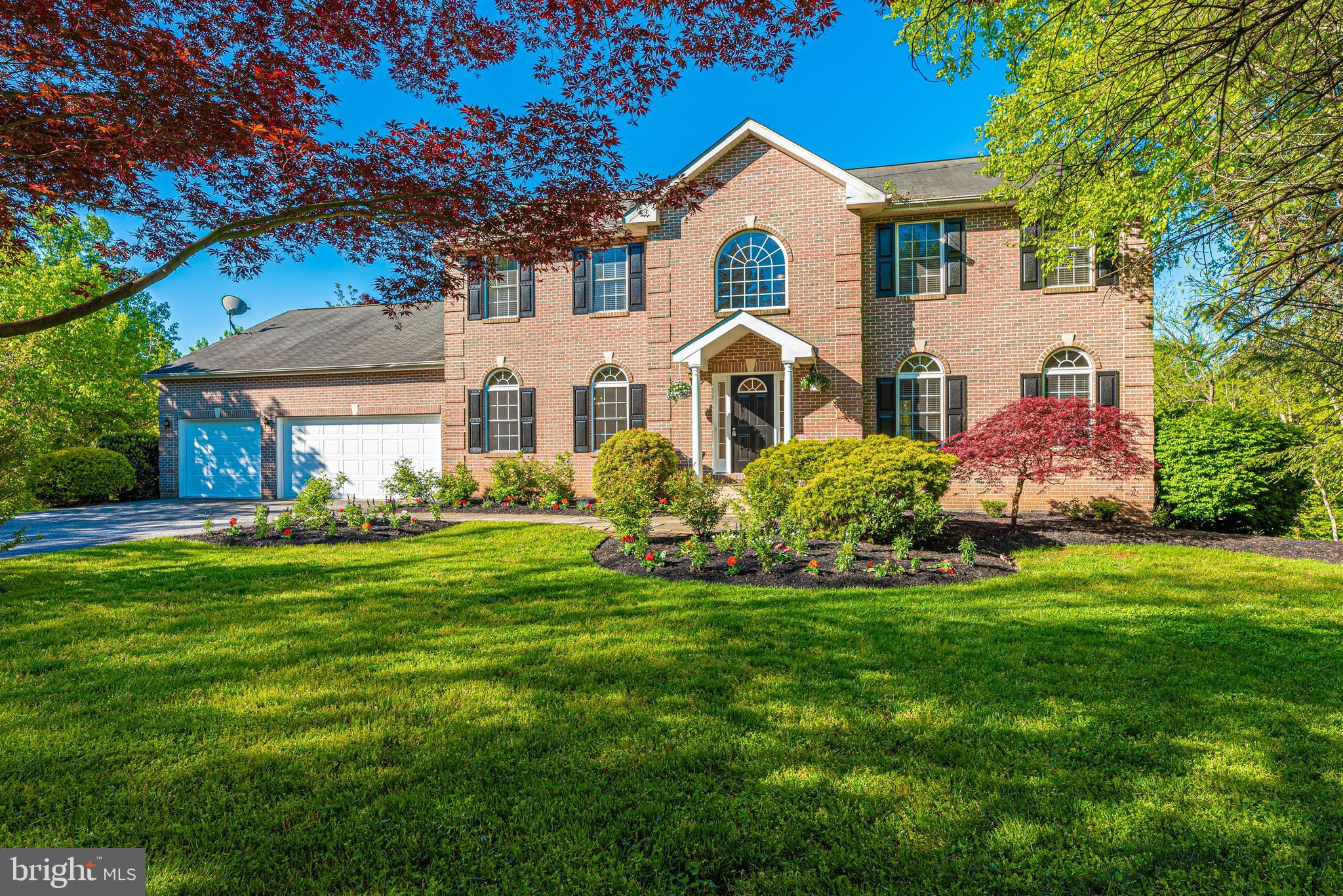 Spacious, custom Colonial perfectly located on a private and tranquil lot backing to Catoctin Creek.