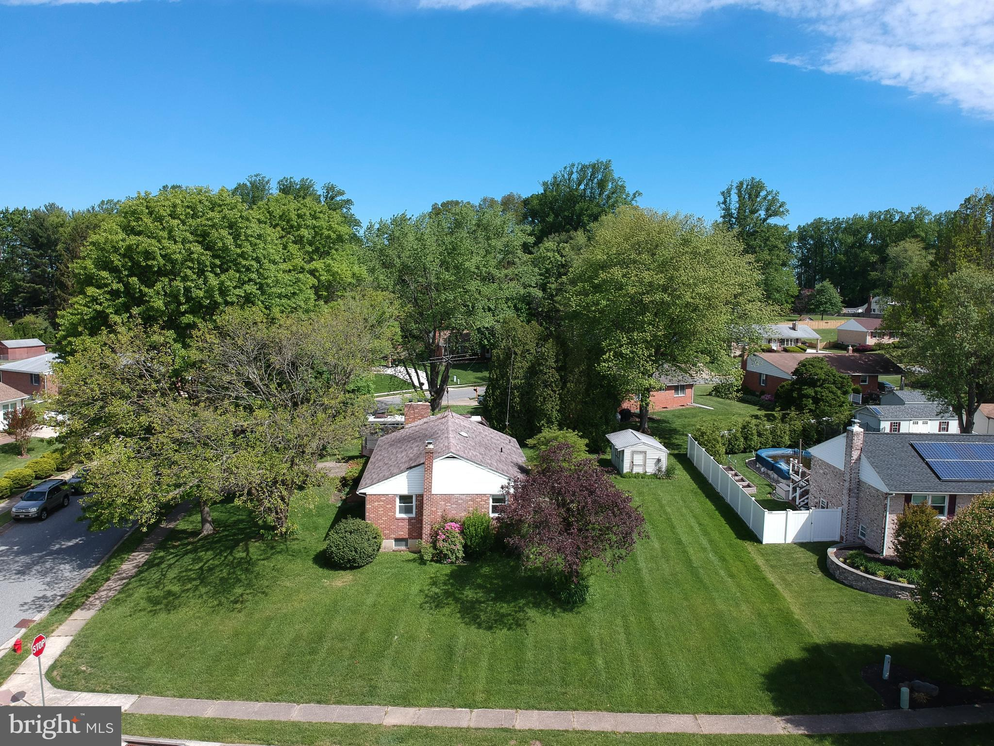 Brick Rancher with a finished basement on a nice corner lot in the desirable neighborhood of Greenri