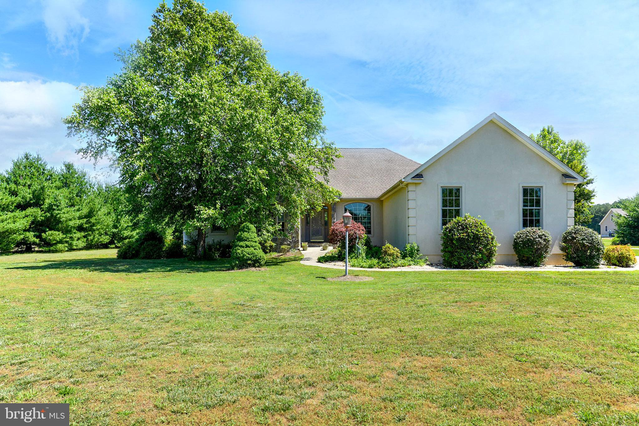 Farmette in western side of Sussex County.  This property has so much potential, 8 acres cleared and