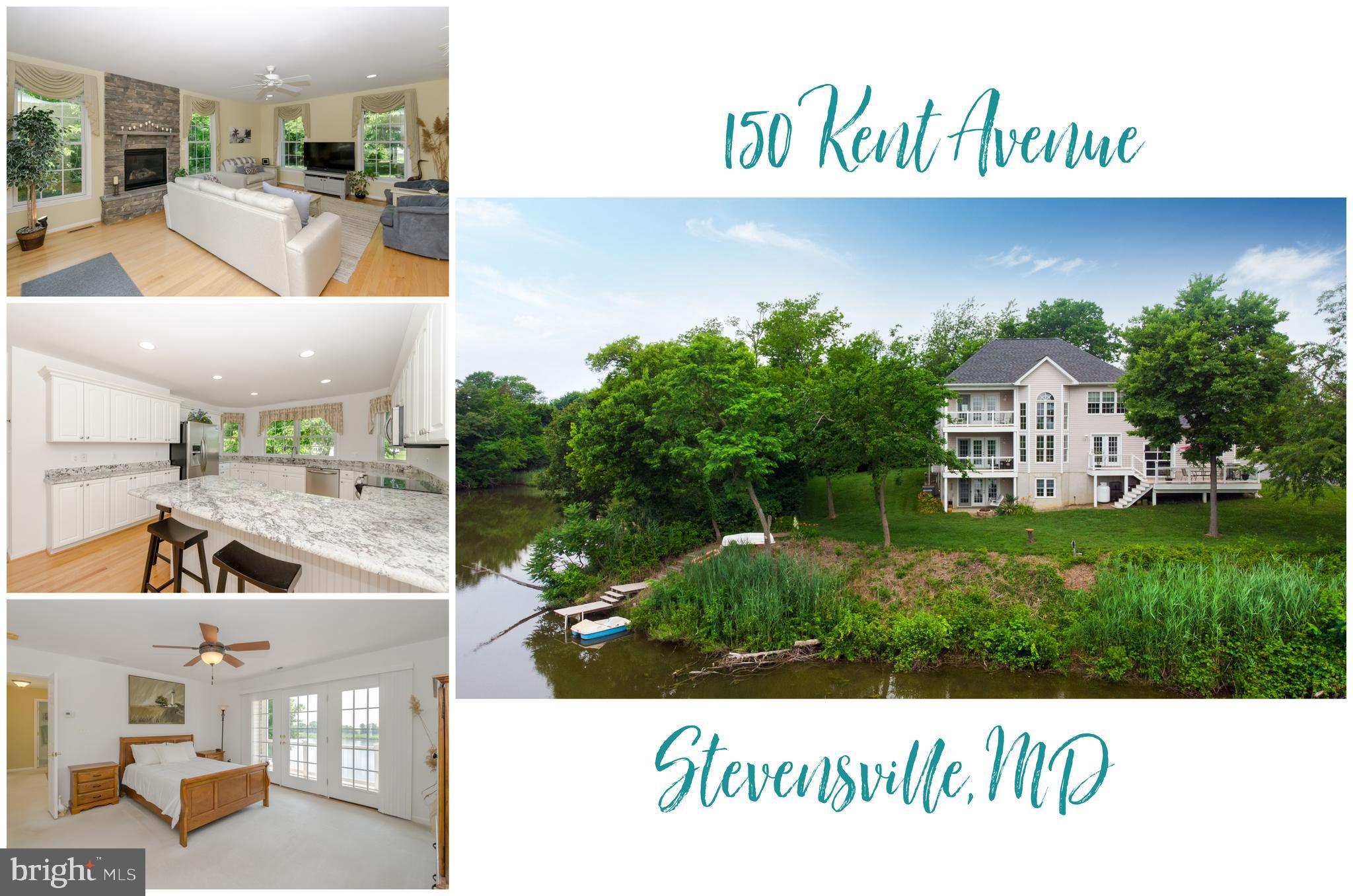 **AVAILABLE FURNISHED** Never before listed, this 3 level custom home with 311 feet of WATERFRONT that wraps around two sides of the property  will surprise you at every turn. With over 3,000 sq ft of living space perfectly perched and elevated (NO FLOOD INSURANCE REQUIRED) on over a 1/2 acre lot makes the view feel more like a cruise ship than a house. Yet, while inside you'll fall in love with the details that just feel like home. From the large country kitchen with granite countertops and stainless steel appliances to the family room with propane stone fireplace, to the master suite with private balcony, the walk out basement that's the perfect space for a guest suite or game room or the 3 car garage with built in waterfront man cave!! Bring your kayak or small boats to enjoy the peacefulness of the lake and watch the sunrise or just enjoy the many animal visitors on the property.  Crab in your backyard and then enjoy your feast on any one of the 4 decks or patio.  This is your chance to own a piece of waterfront heaven on Kent Island. Don't wait. Now is the time to make THE SHORE HOME! Check out the Drone Video Here https://youtu.be/3Svt4iHDmu4