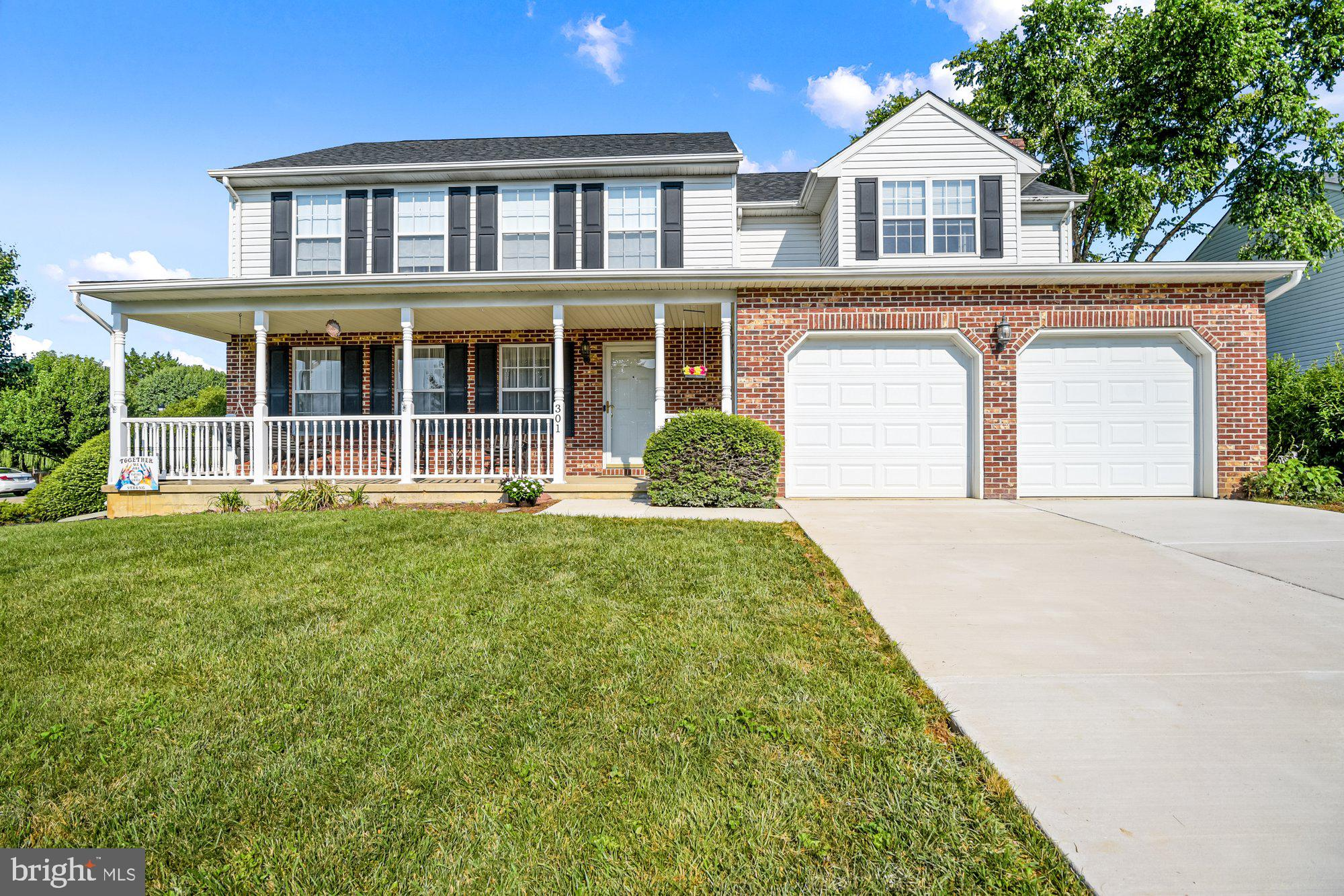 Looks and feels new and almost is!!!  Roof (2017), Deck (2018), Family room carpet (2016), kitchen tile (2016), kitchen faucets & disposal (2019), furnace and a/c (2013), bathroom triple mirror & lights (2018), new garage doors (2018), faucets in bath (2019) hall toilet (2020), dishwasher (2019), owners suite carpet (2017), solar panels (2015), new driveway (2021)!!  You can tell these owners have taken pride in this 4 bedroom 2.5 bath front porch Colonial. Formal living room and dining room, kitchen with granite, stainless appliances, under cabinet lighting and removable island. Owner's suite has a sitting room and owner's bathroom w/washer & dryer.  Three very nice sized additional bedrooms on the second floor. Basement is partially finished with lots of storage! Backyard is lovely with landscaping, deck and grill that will stay.