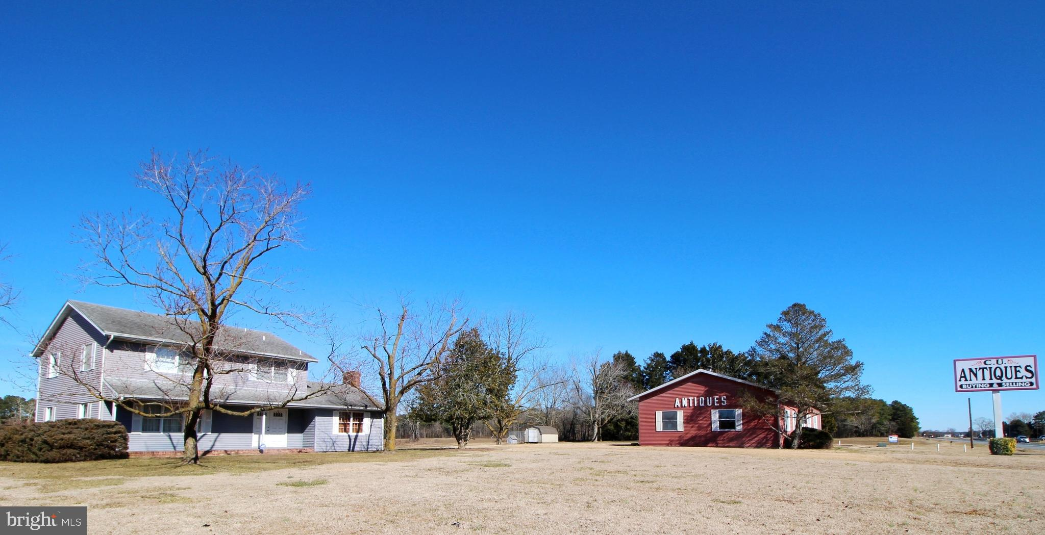 2 Parcels, 1.15 Acres including Residential Home and Commercial Building on prime Rt. 50 road fronta