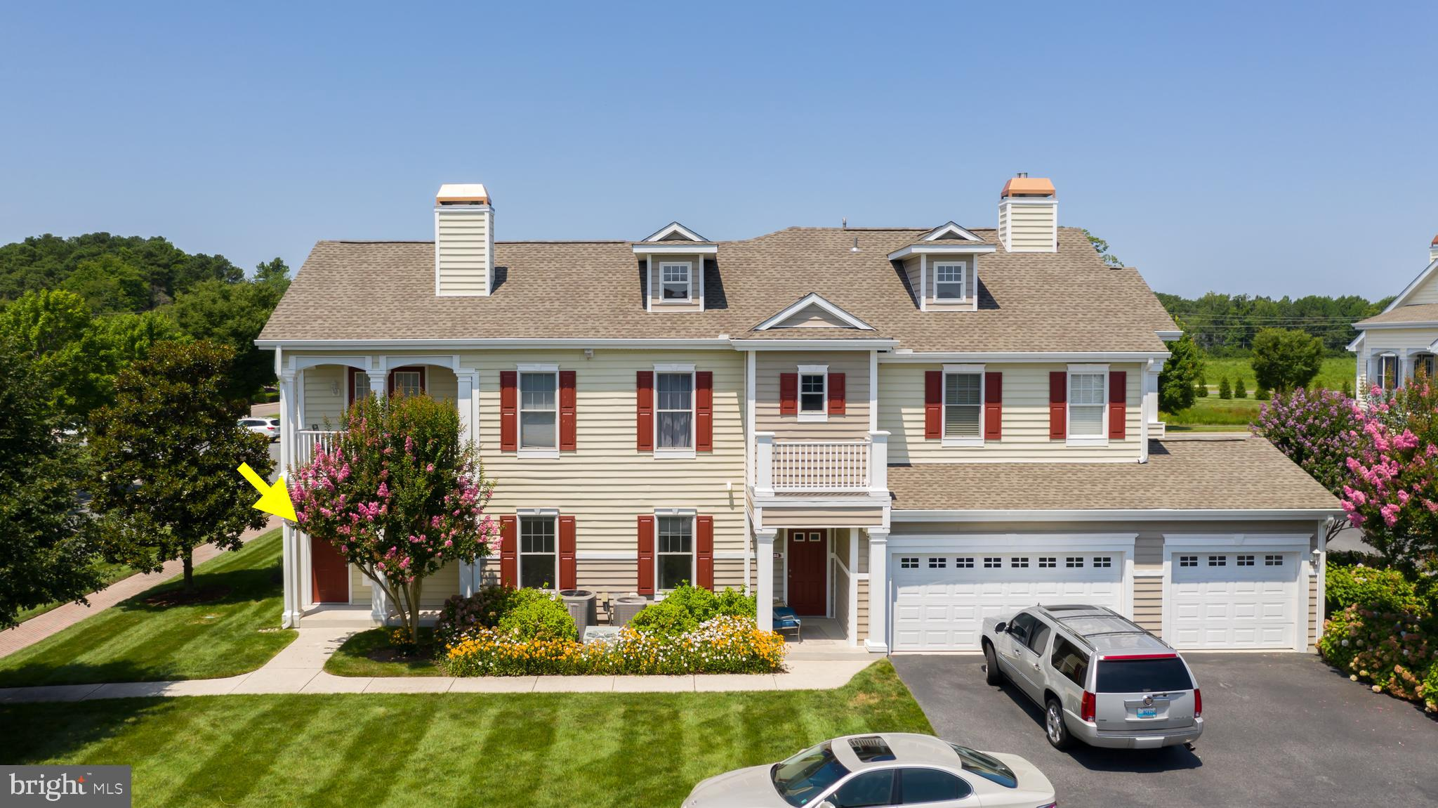 This is the only 3BR condo/TH with 2 car attached garage currently available in all of Lewes and Mil