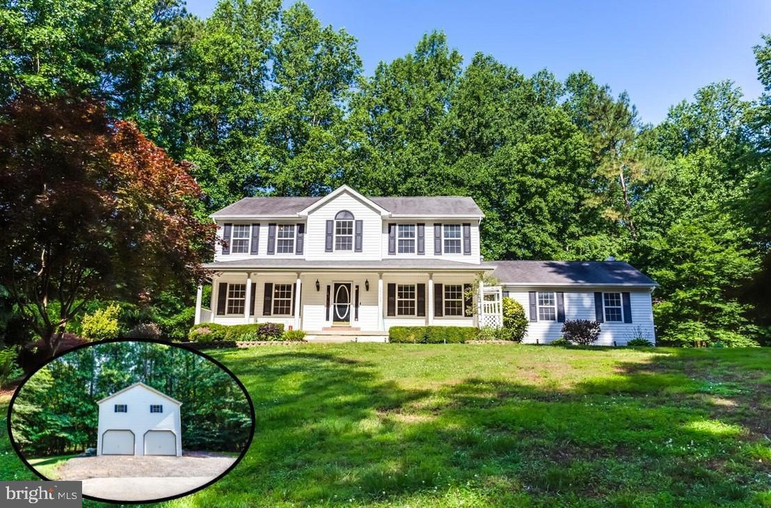 Looking for privacy with NO HOA??  This home is situated on 3 acres with a large detached garage wit