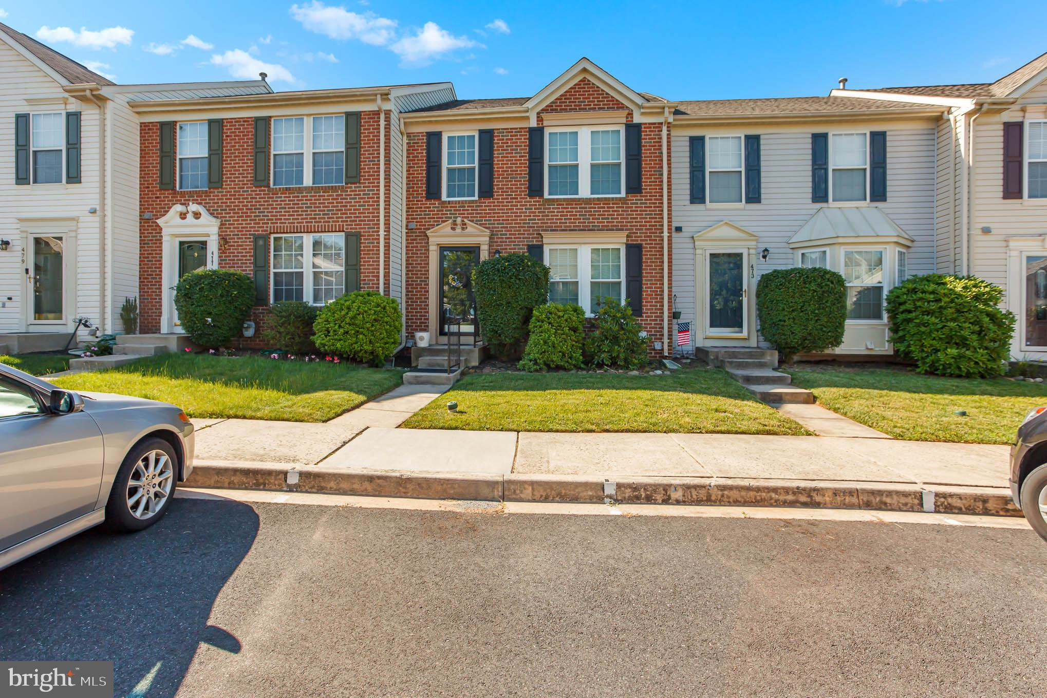 Well Cared for Brick Front townhome featuring 3 finished levels, 3 Bedrooms & 2 1/2 Baths. This home