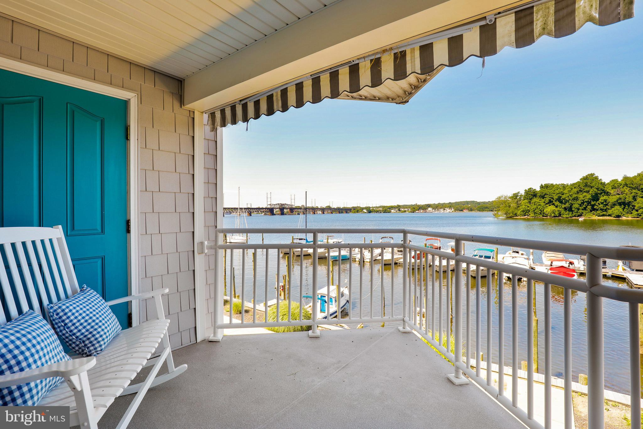 If you are looking at this new listing, it is your lucky day!  Drop everything and make an appt to see this gorgeous 2 bedroom, 2 full bath condo on the 2nd floor or stop by the open house this Sat.  (June 19th) from 11am to 1pm.   Why not spoil yourself and your loved ones?  This waterfront home comes fully furnished with a gas fireplace, dishes, glasses, bedding, and 2 newer bicycles.   There are 2 storage units on the balcony, 2 pantries in the kitchen, a walk-in closet in the primary bedroom, a large soaking tub in the primary bathroom,  water views, and balcony access from the 2nd bedroom.  This condo is steps away from a boat ramp and docks (privately owned and can be leased).  A pool membership can also be purchased.  There is a nearby bike and walking trail.  There is a public boat ramp with lots of parking a few miles away.  Soon, you will be able to enjoy the new tiki bar and marina which will be seconds from your doorstep.   This home = biking, boating,  swimming in the community pool, watching boats go by from your waterfront balcony, soaking in the large tub, relaxing by the gas fireplace, waking up to views of the  Susquehanna River then repeat!  You are not dreaming.  Buy now and make this your reality.