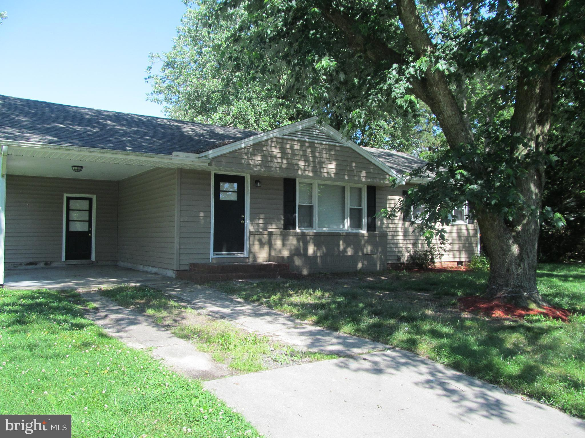 3 bedroom, 1 bath rancher, siding, heat pump, windows and appliances within 5years old. spacious bac